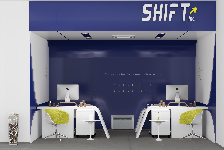 shift Riyadh blue modern design