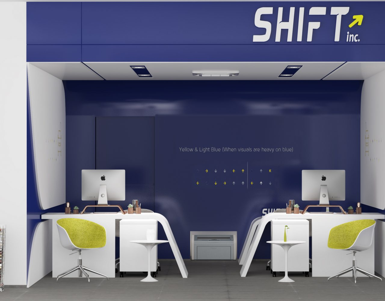 shift Riyadh in KSA modern blue design with simple straight lines
