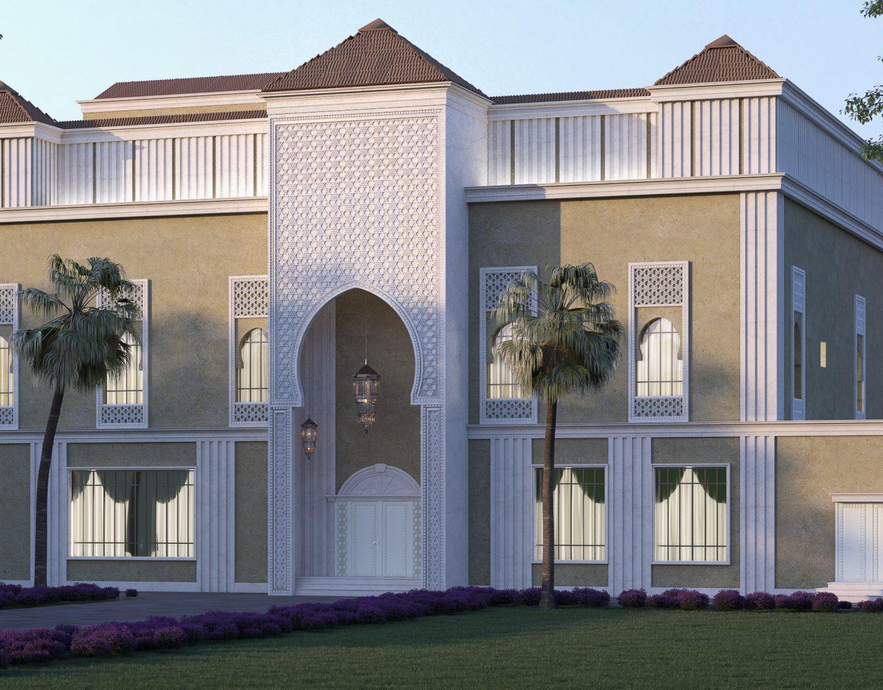 villa in Riyadh Andalusian style