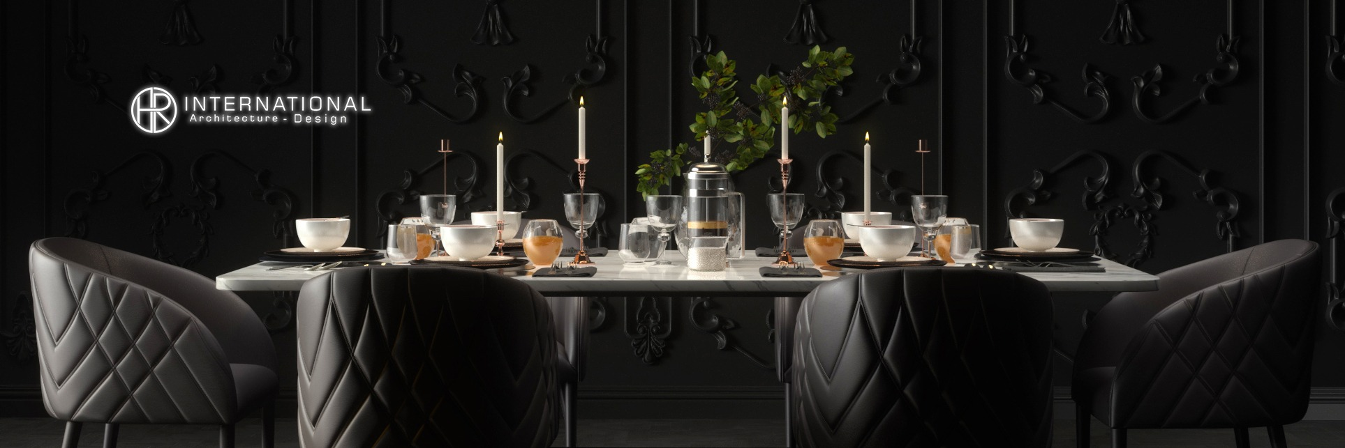 Interior Design Dinning Room Black Mood