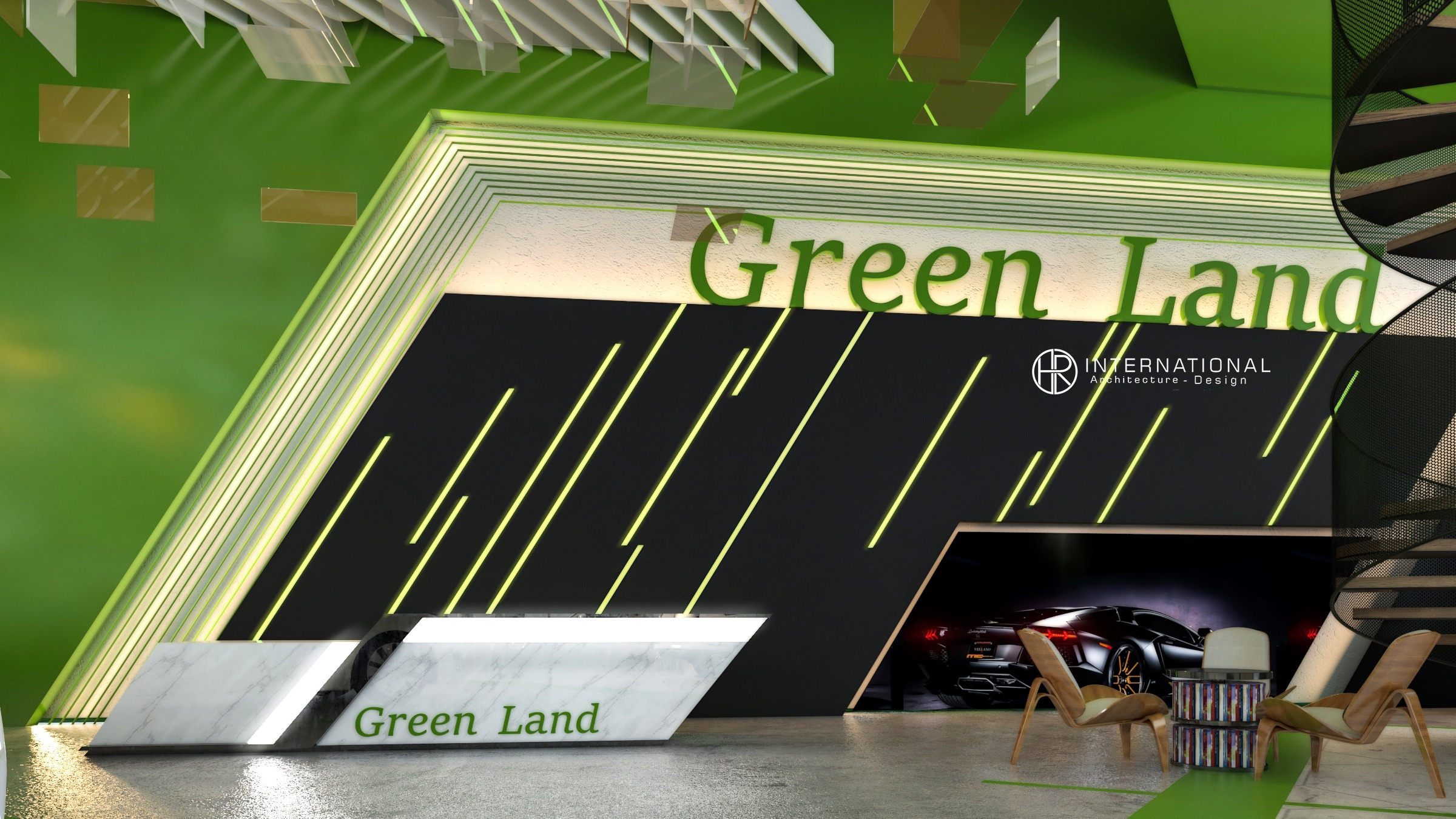 reception green land