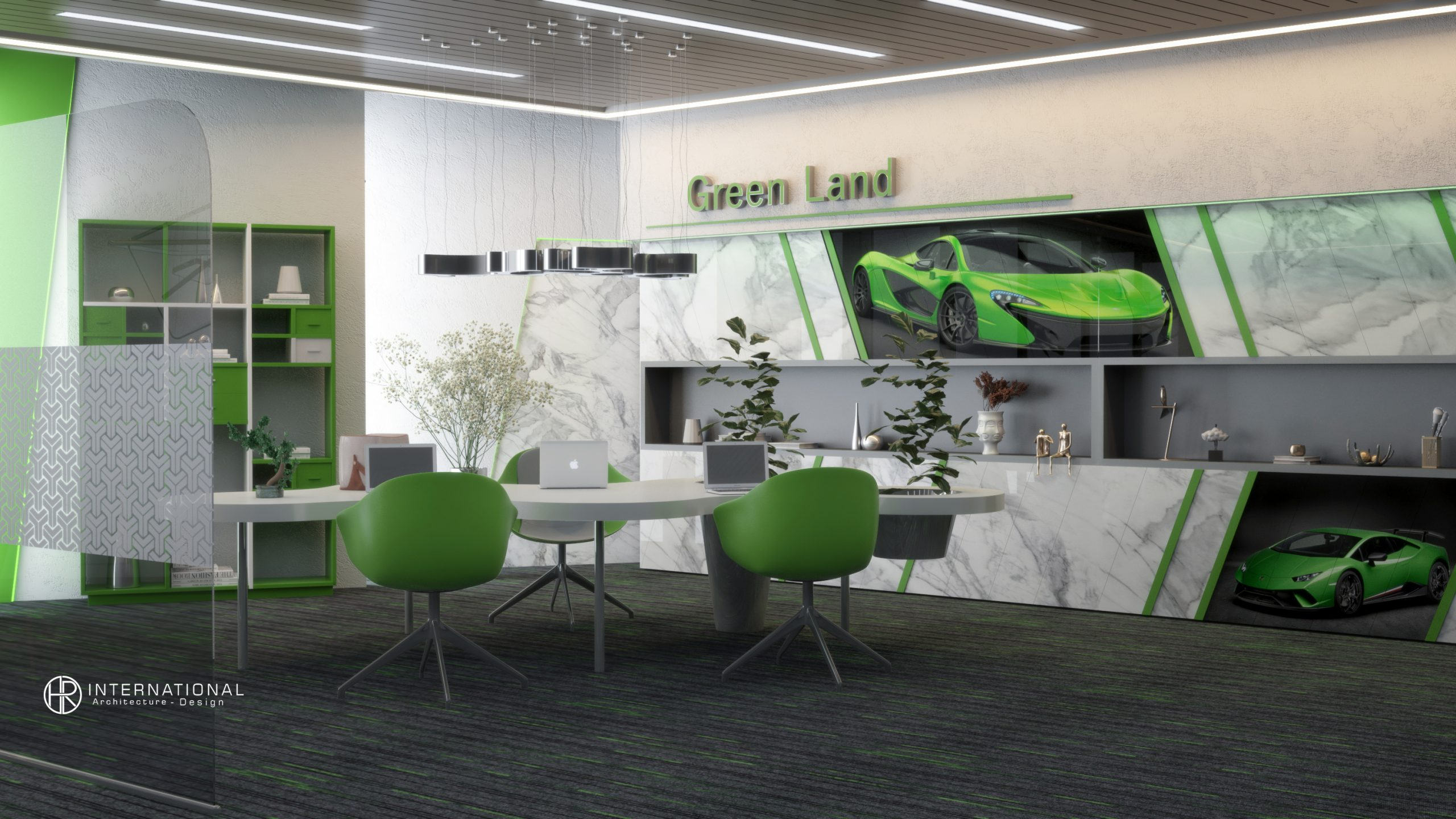 employees office Green land