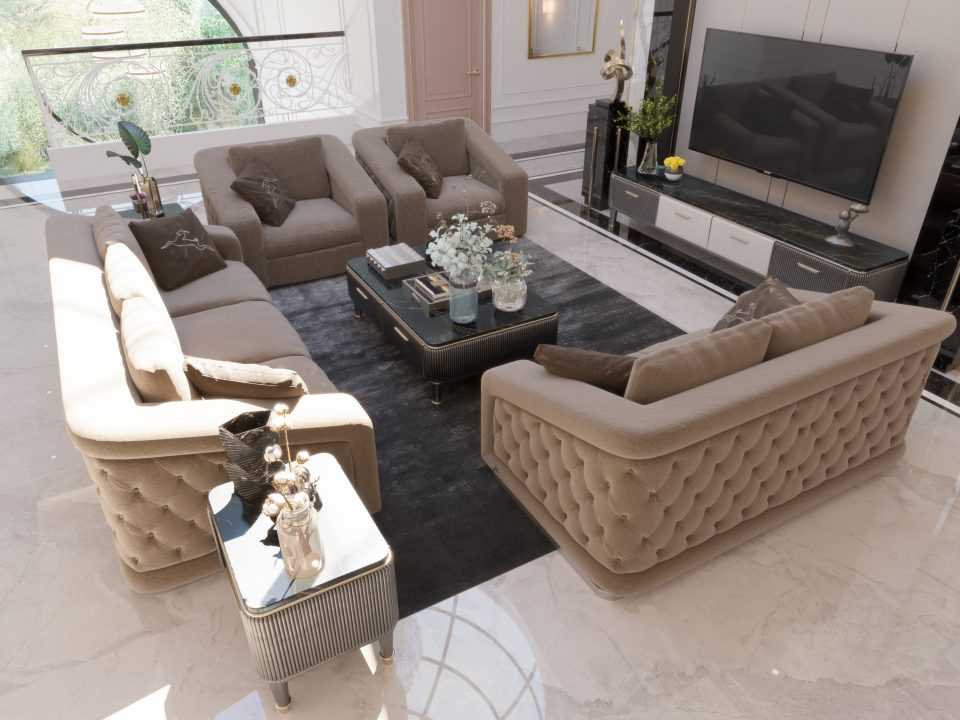 sofas design next the tv set