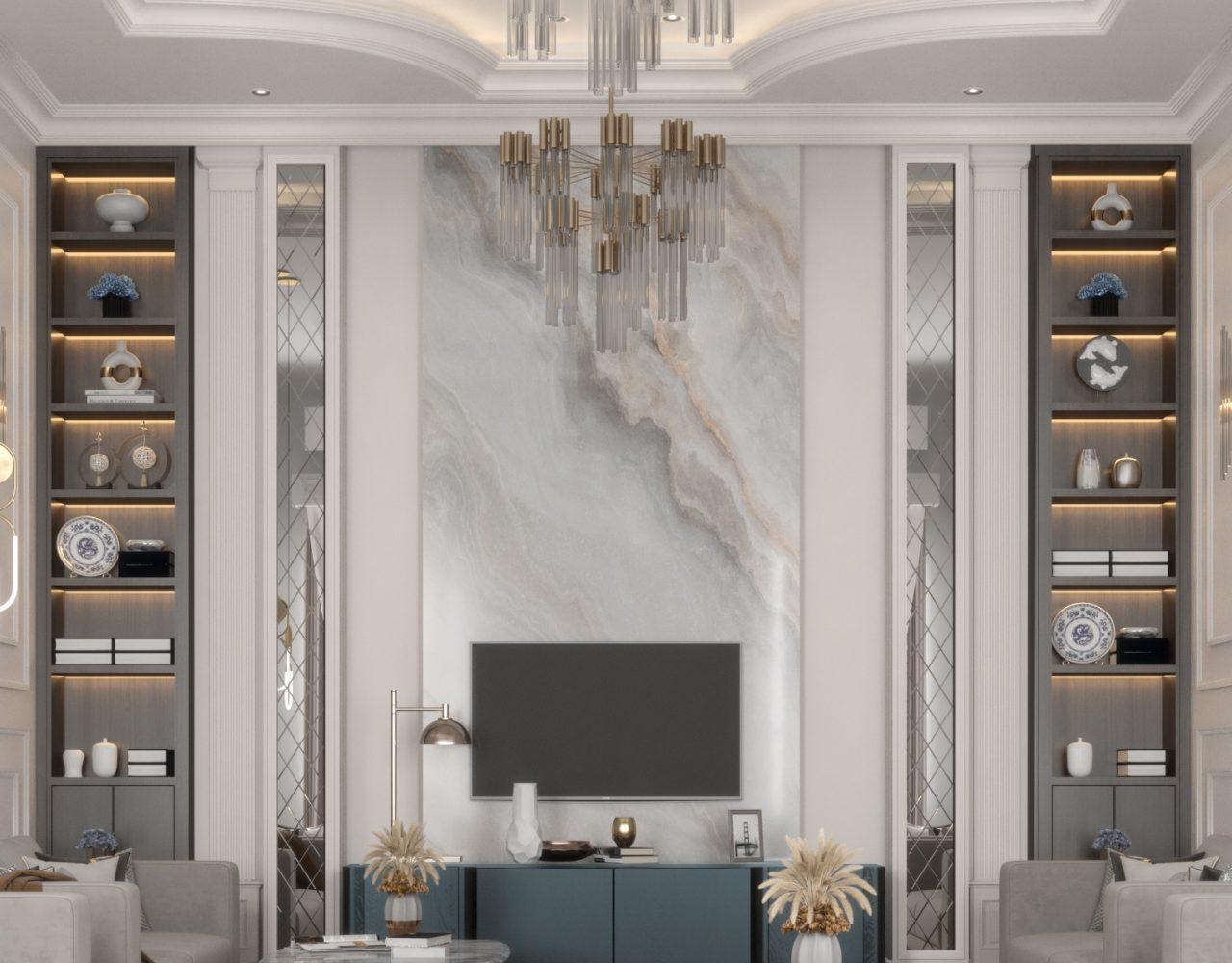 neo classic sitting room