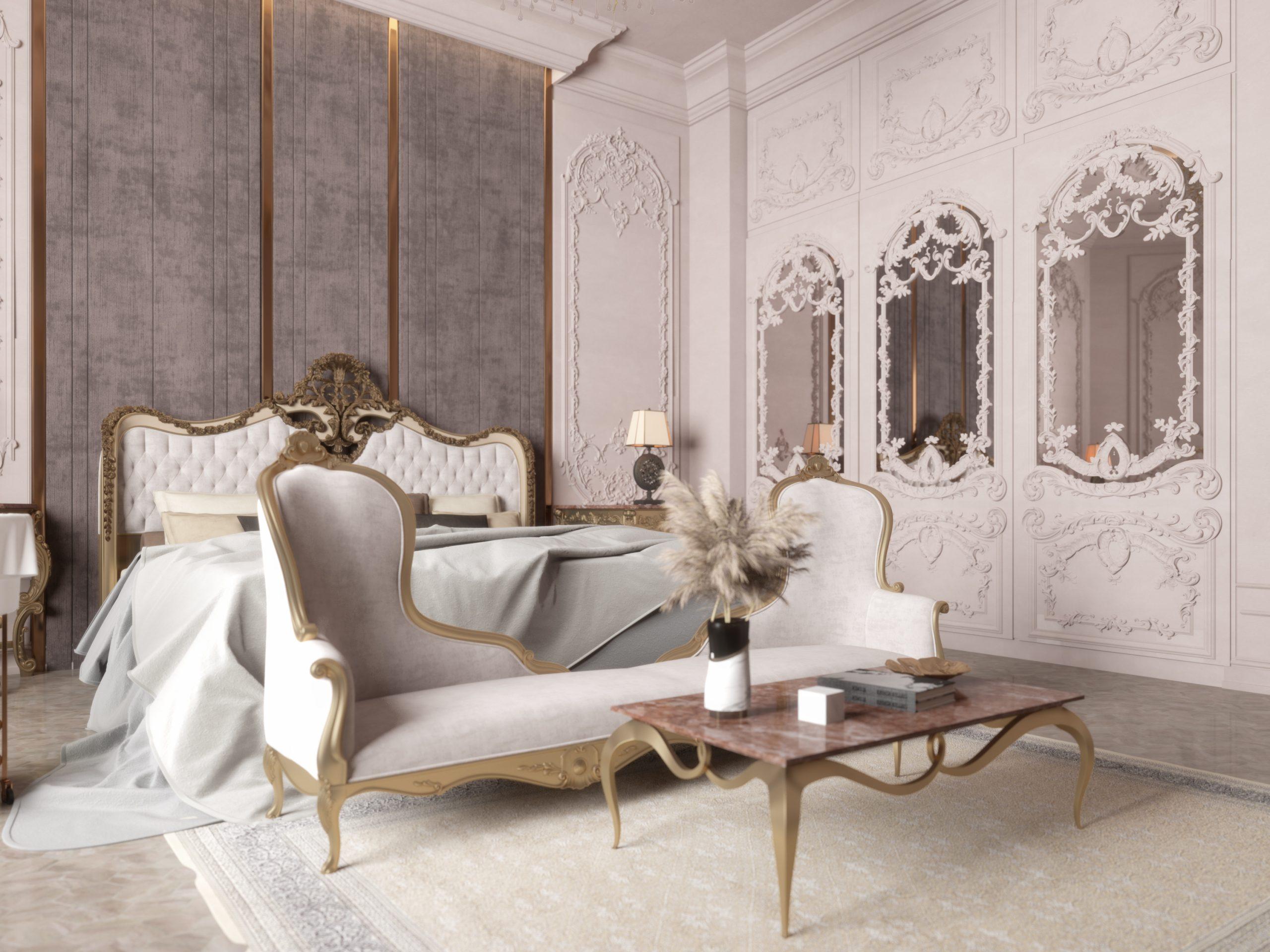 classic design royal theme master bedroom