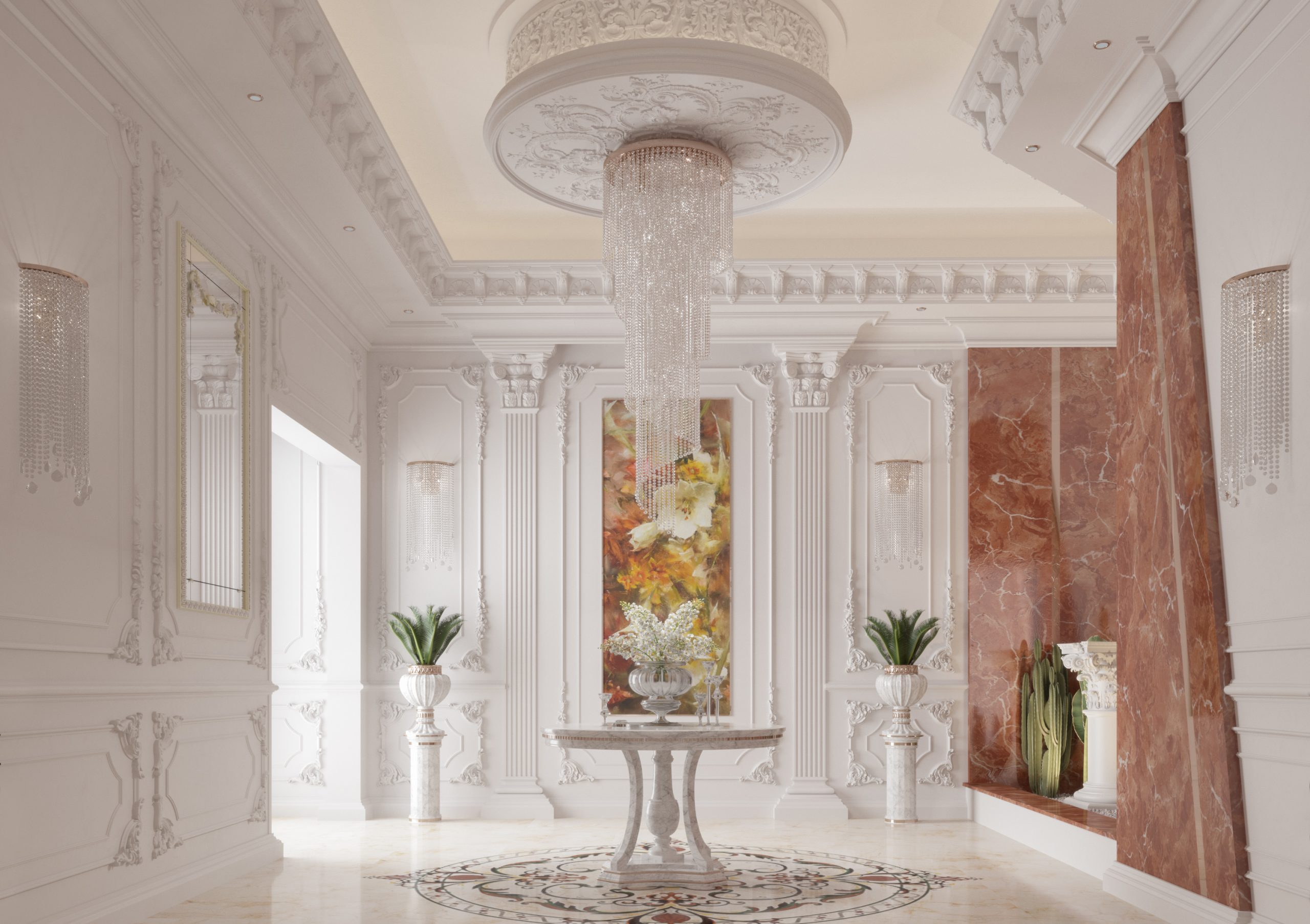 classic entrance - marble - -