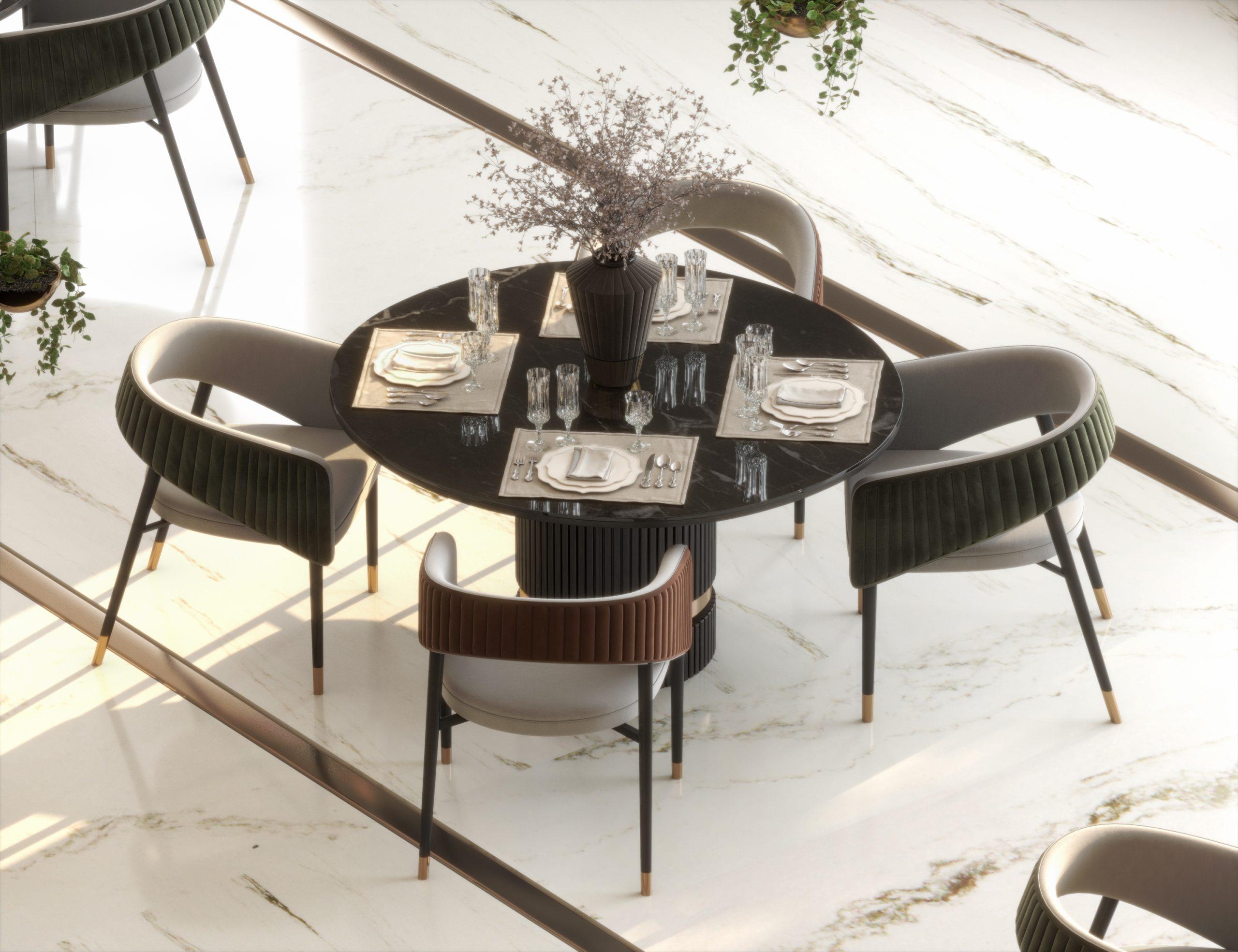 table design in lucerne restaurant