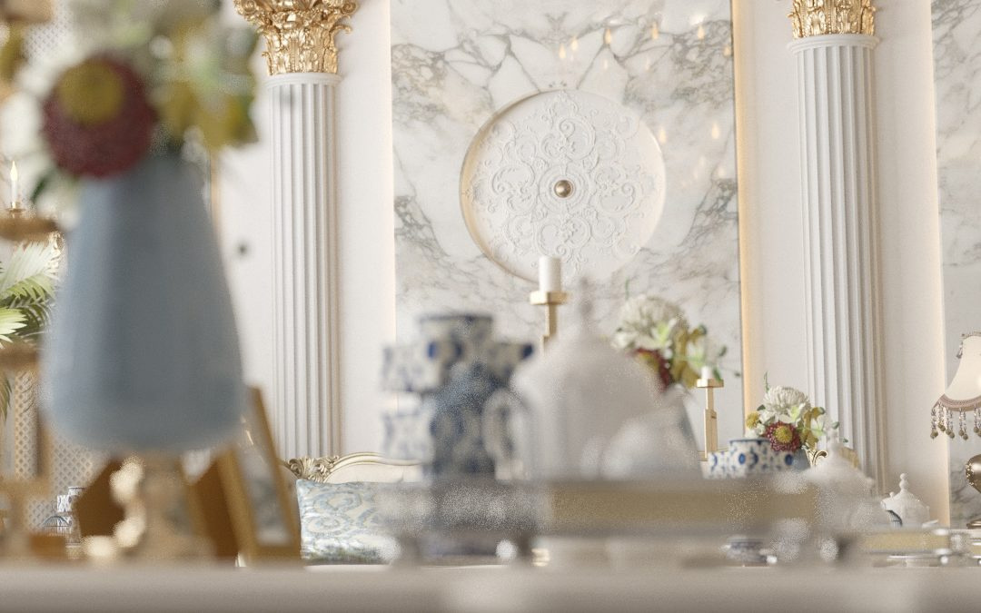 luxurious men majles design - close shot