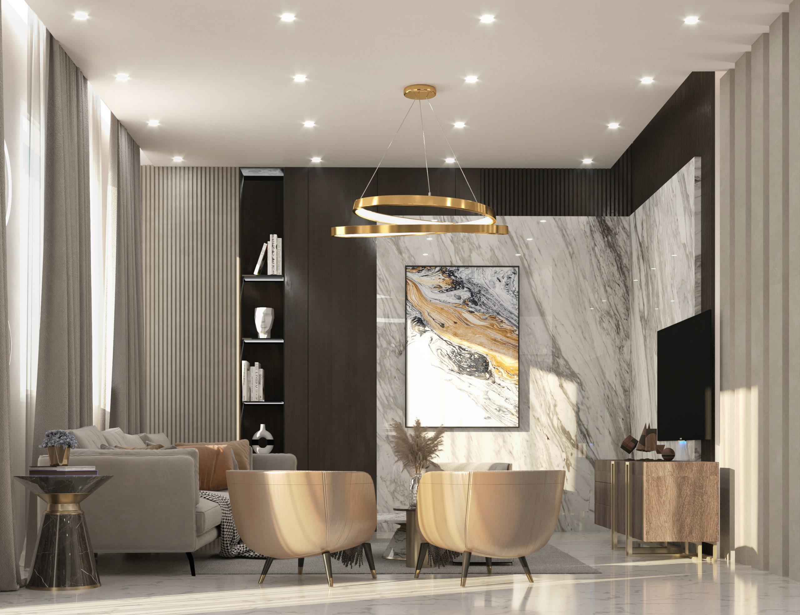 sitting room open kitchen design