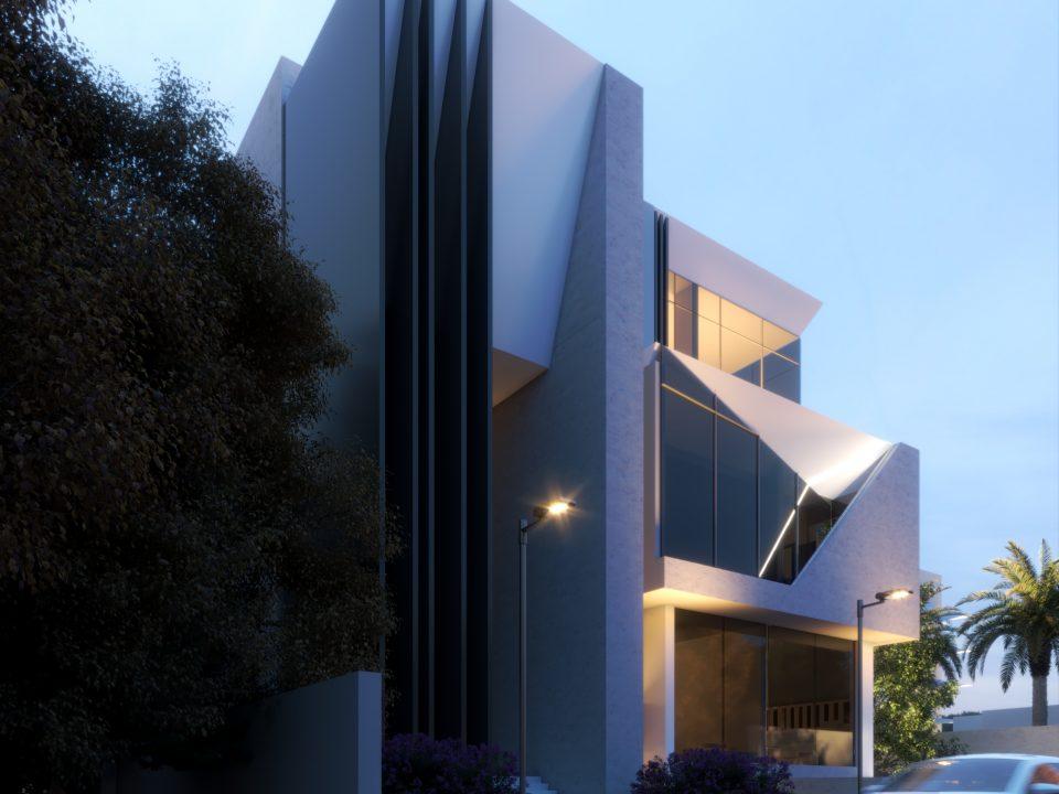 exterior design - villa - tree