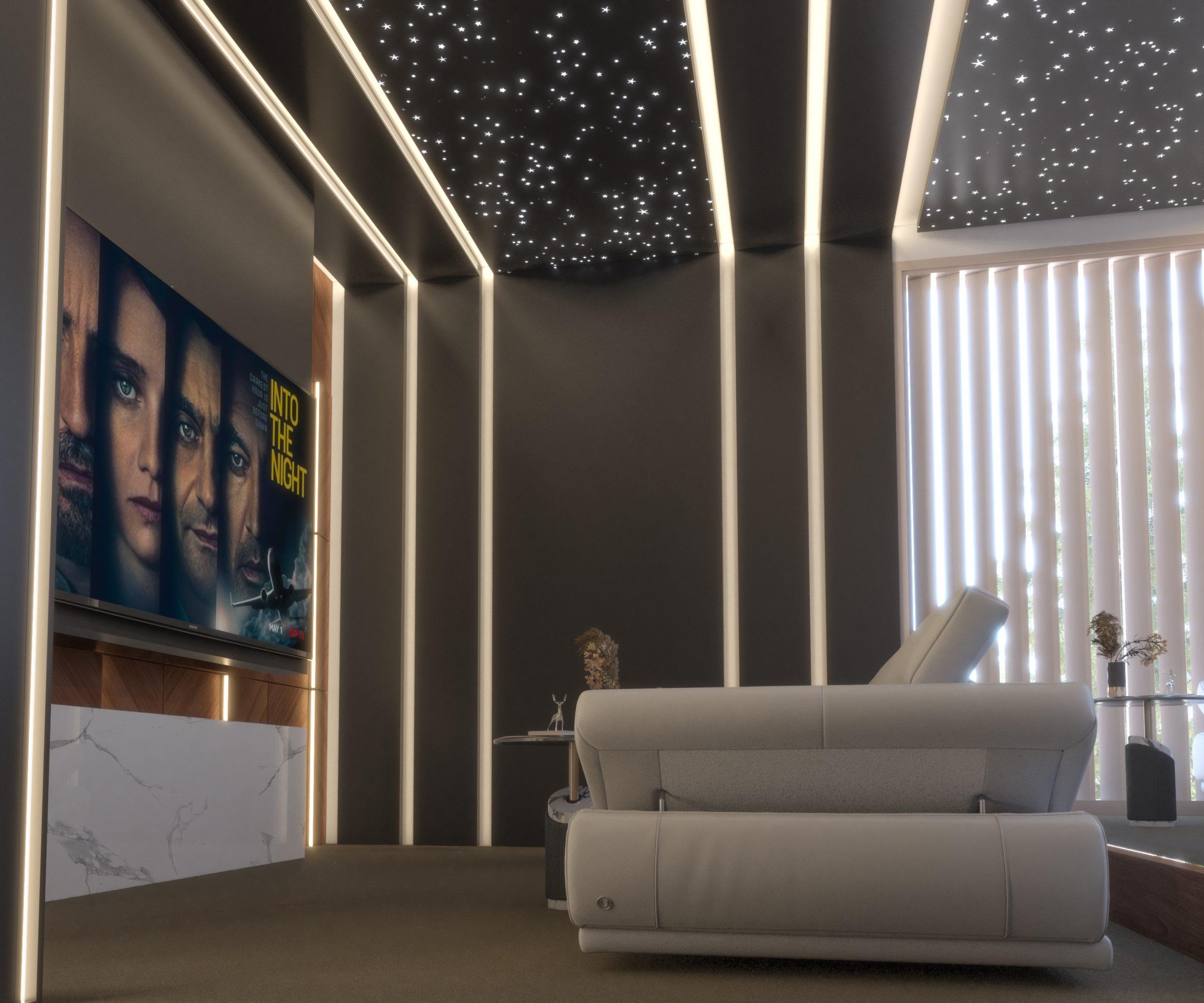 cinema design - elegant colors- lights