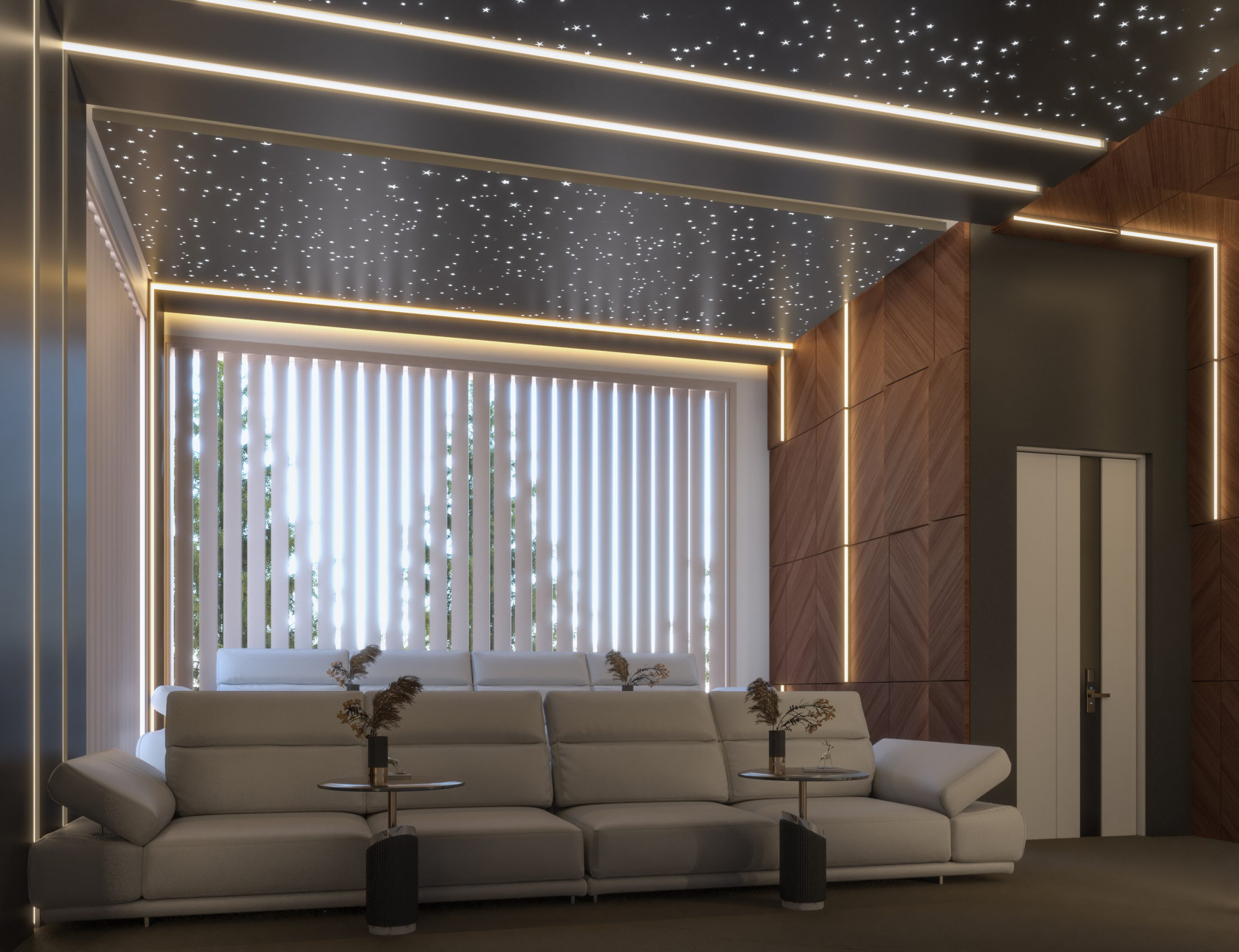 back ground window -cinema - stars design