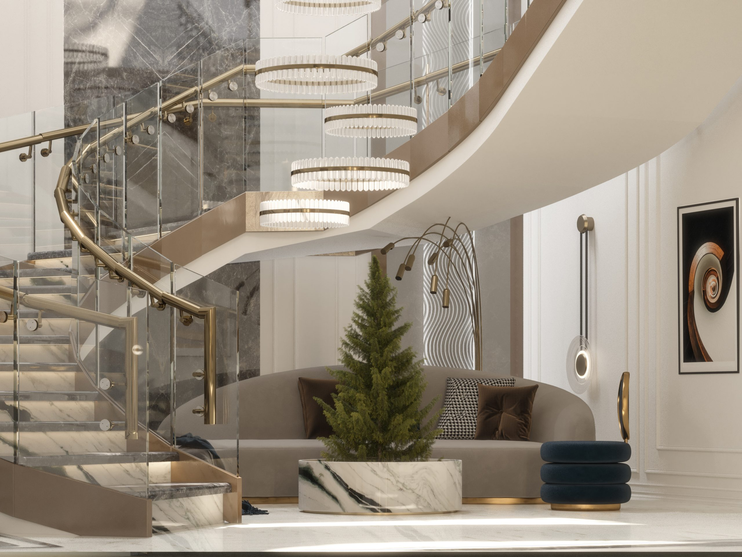 stunning main hall - close look - stairs design