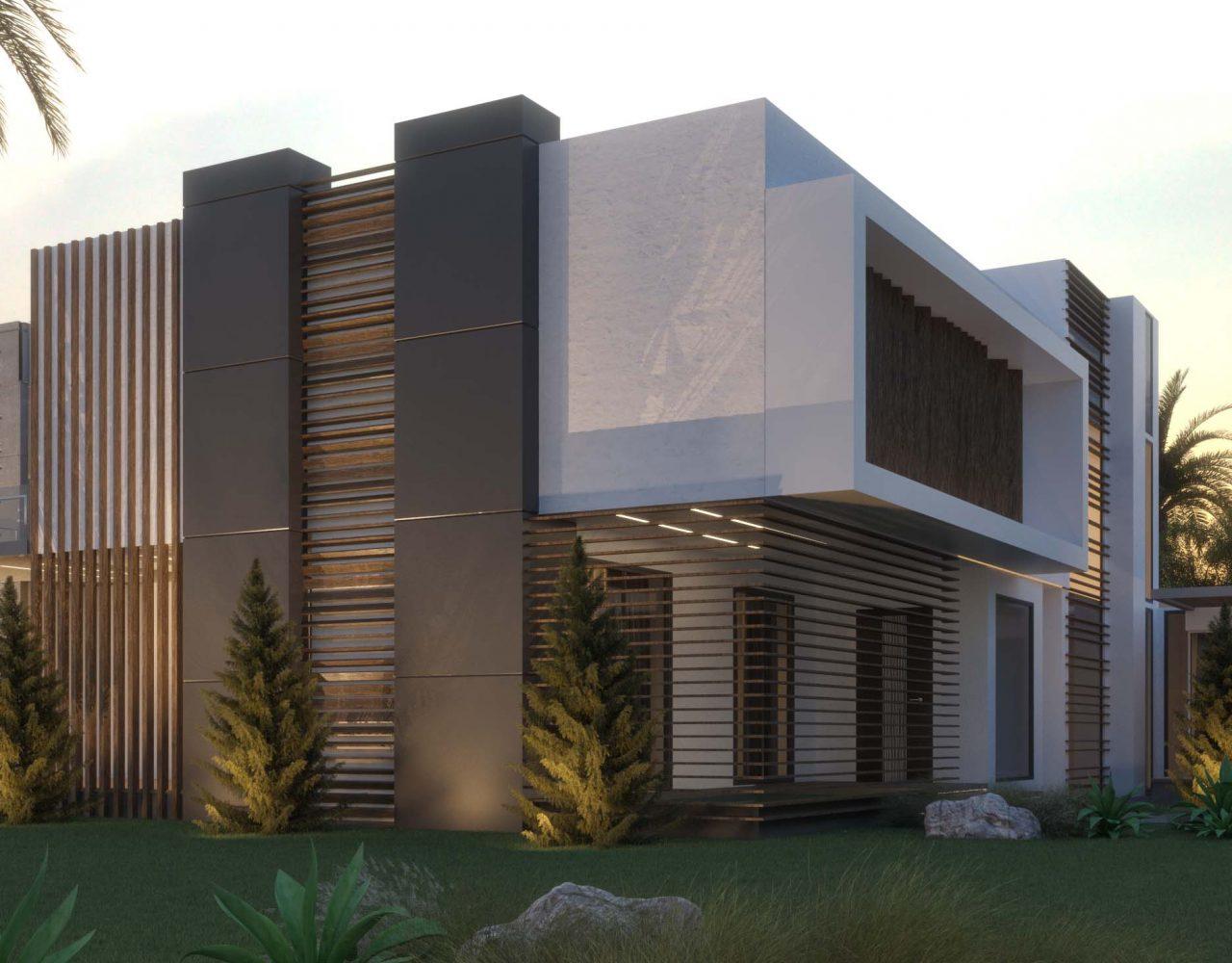 vill modern exterior design - exterior design - villa - tree -SKY