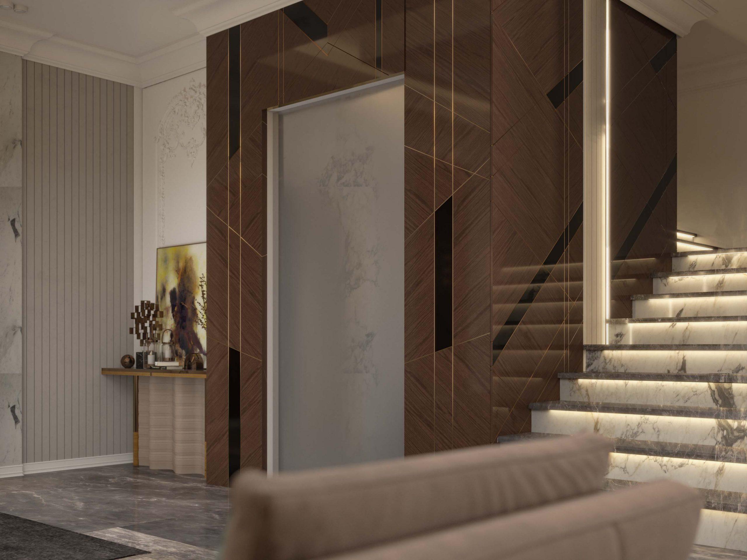 elevator - stairs - sala