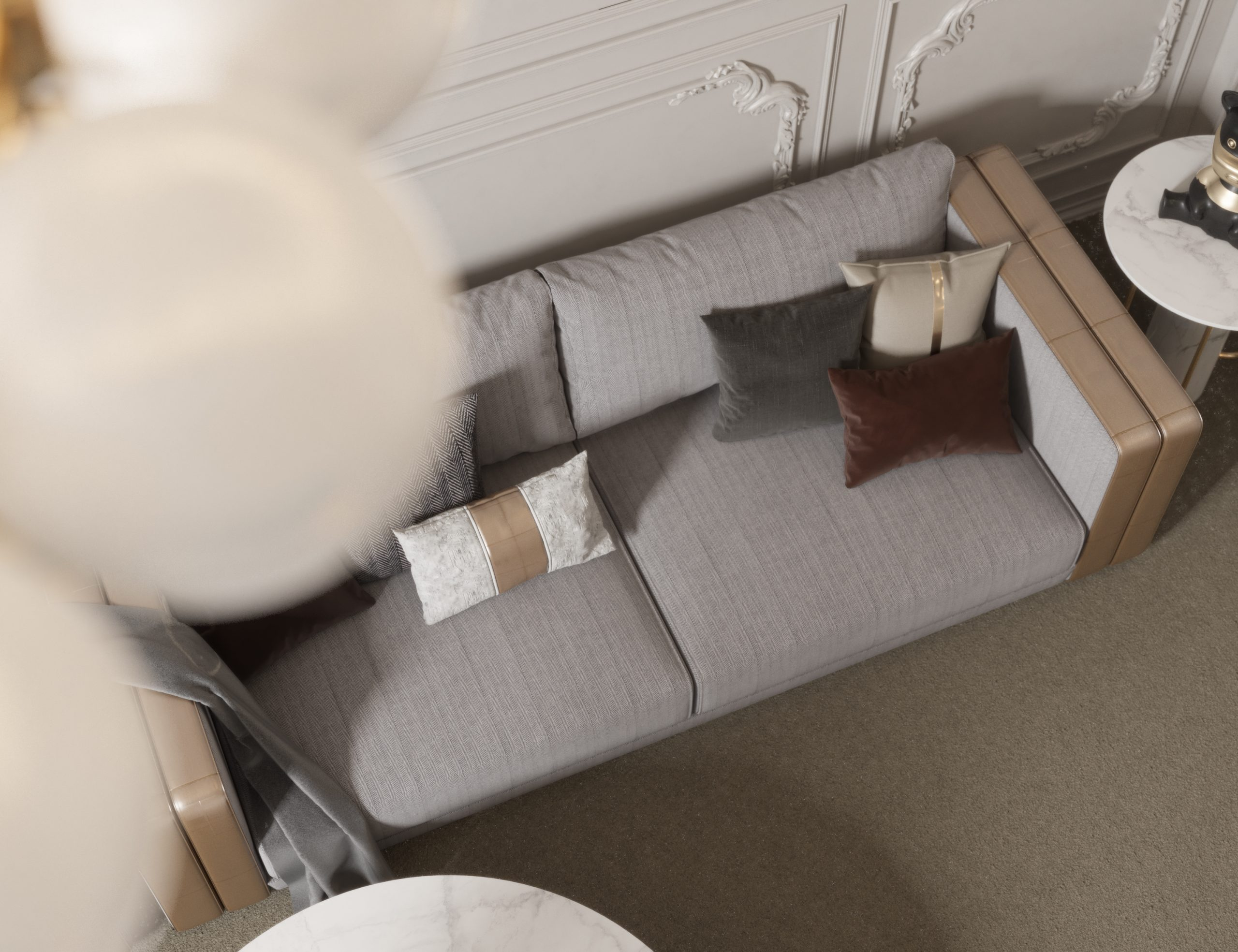 sofa - top view -