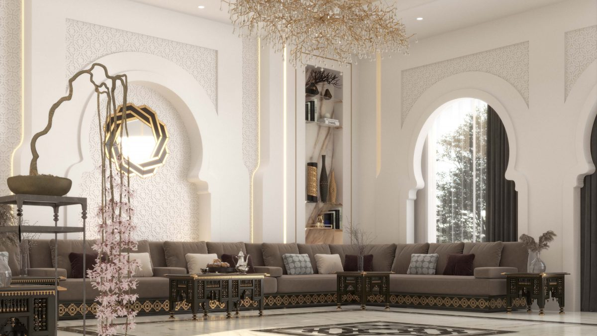 islamic art in decoration - golden details accessories