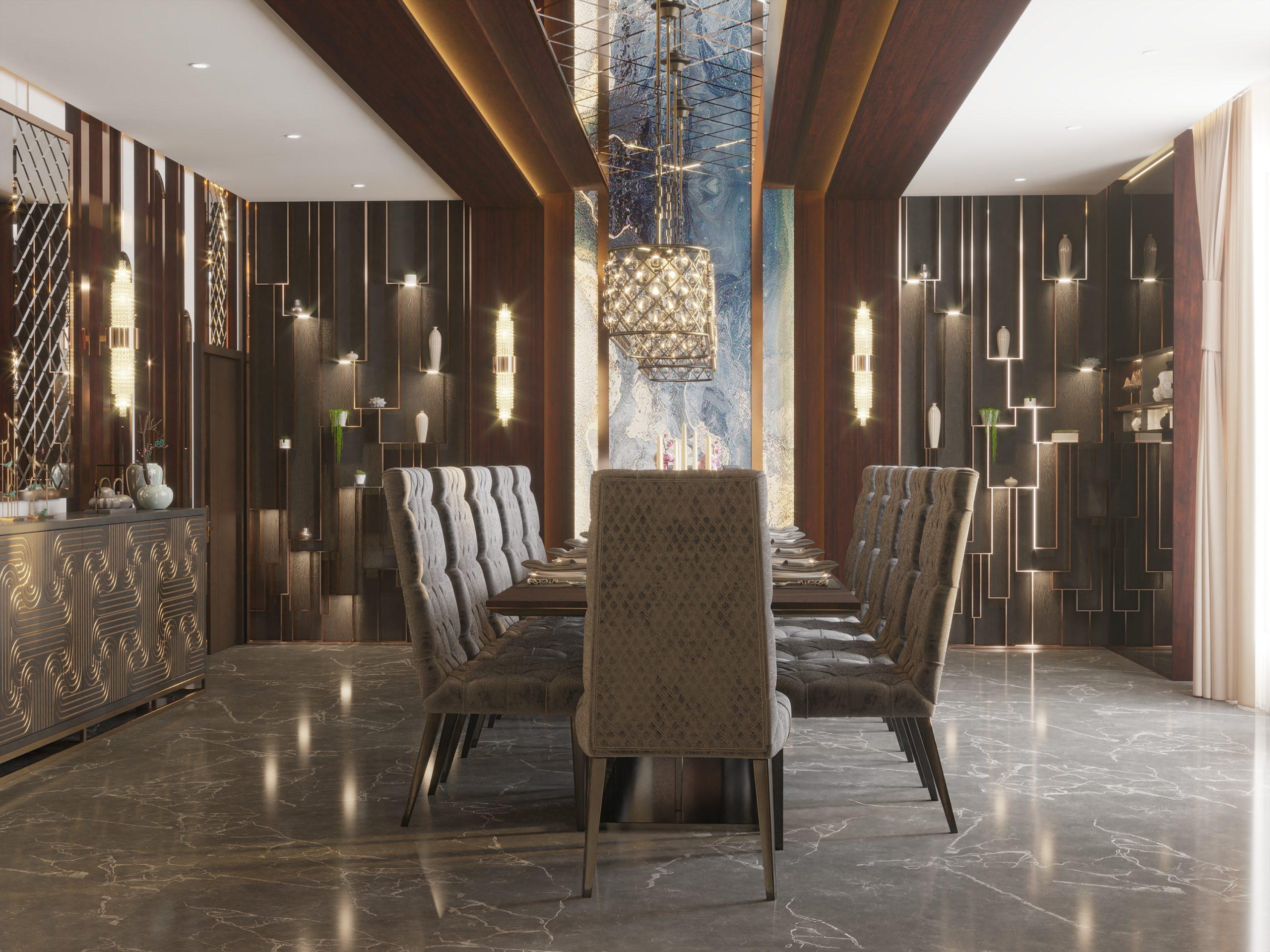 MAIN PARTS OF A VILLA -dining room