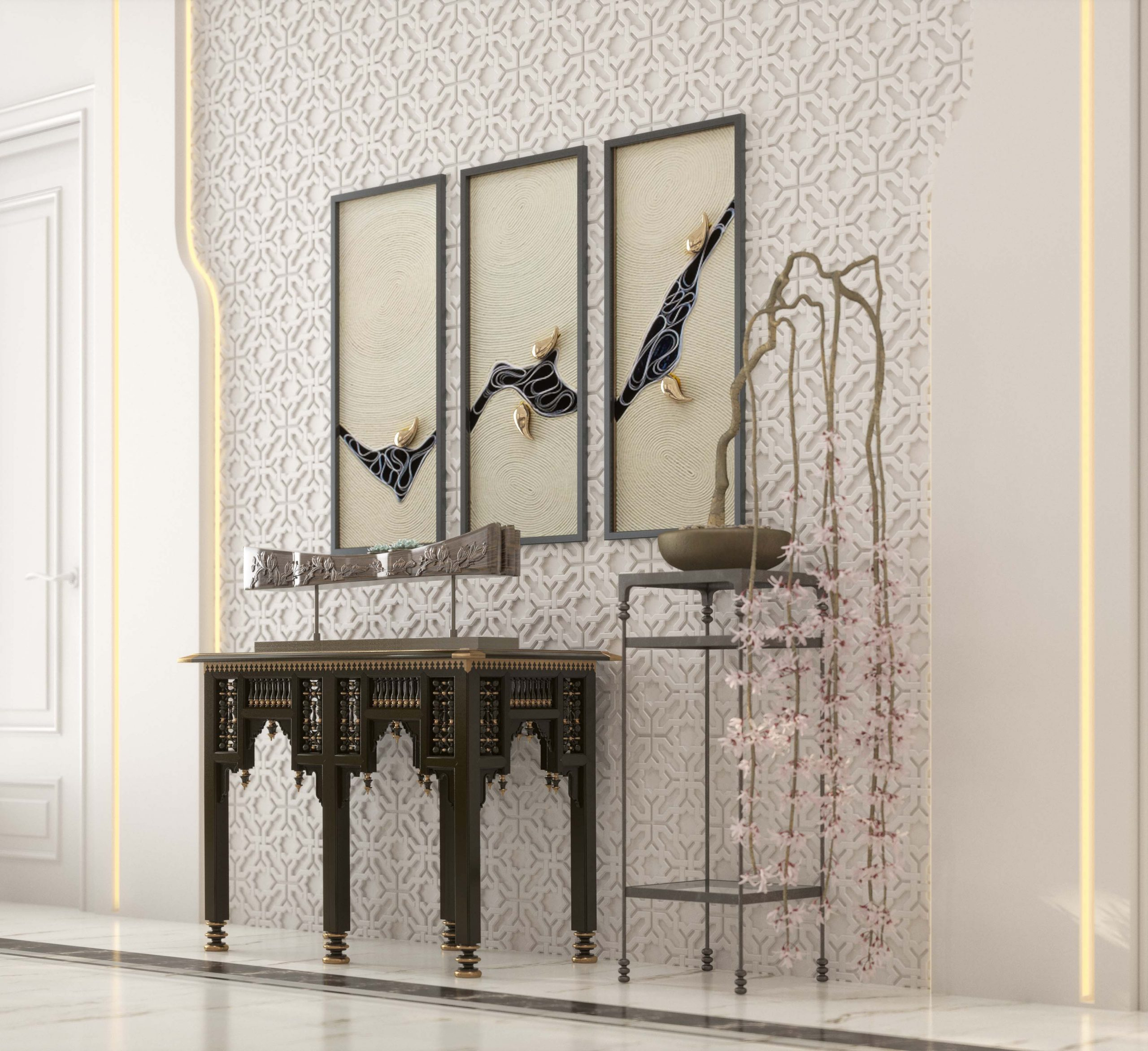 islamic art in decoration - flower - stand