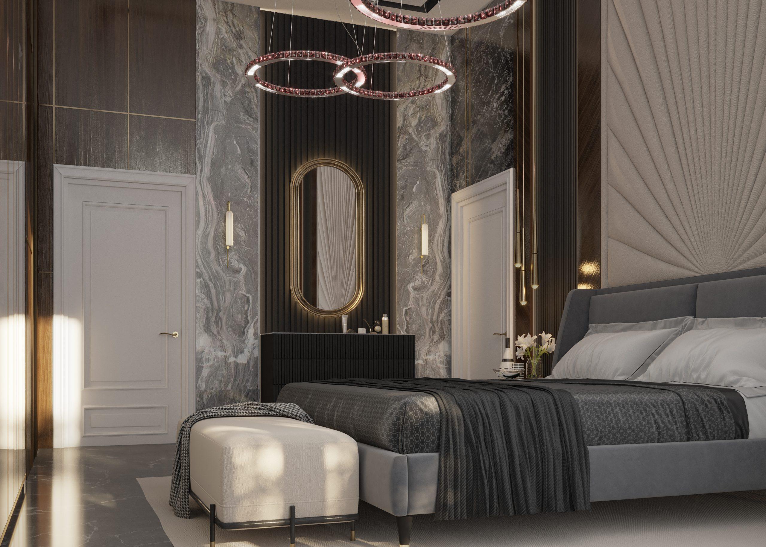 BEDROOM MODERN DESIGN - WOOD - CEILING LIGHT