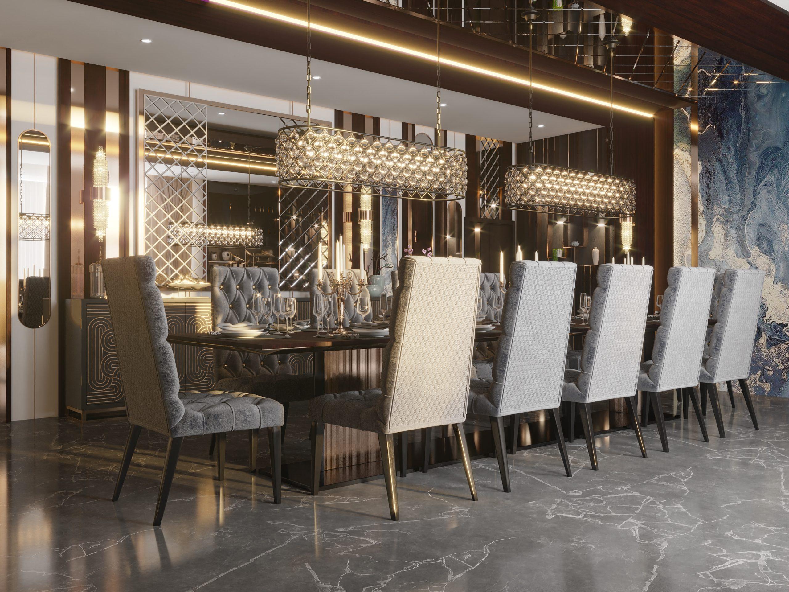 CROSSES DESIGN - MIRRORS DESIGN - DINING ROOM