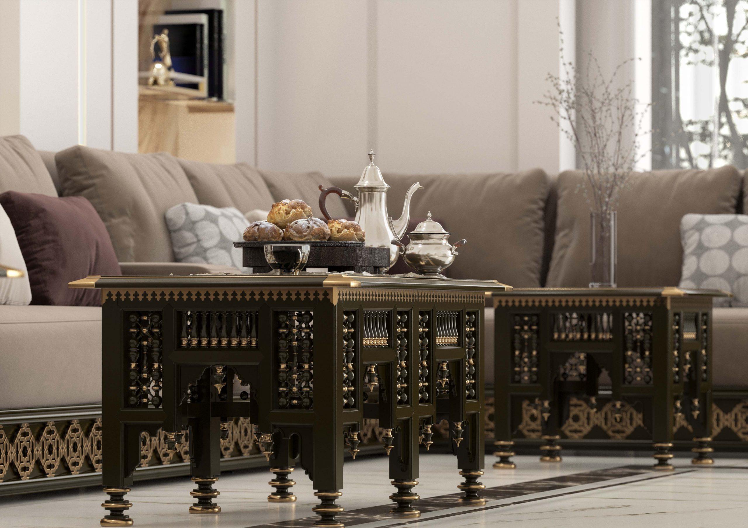 islamic furniture - focused shot - Arabic