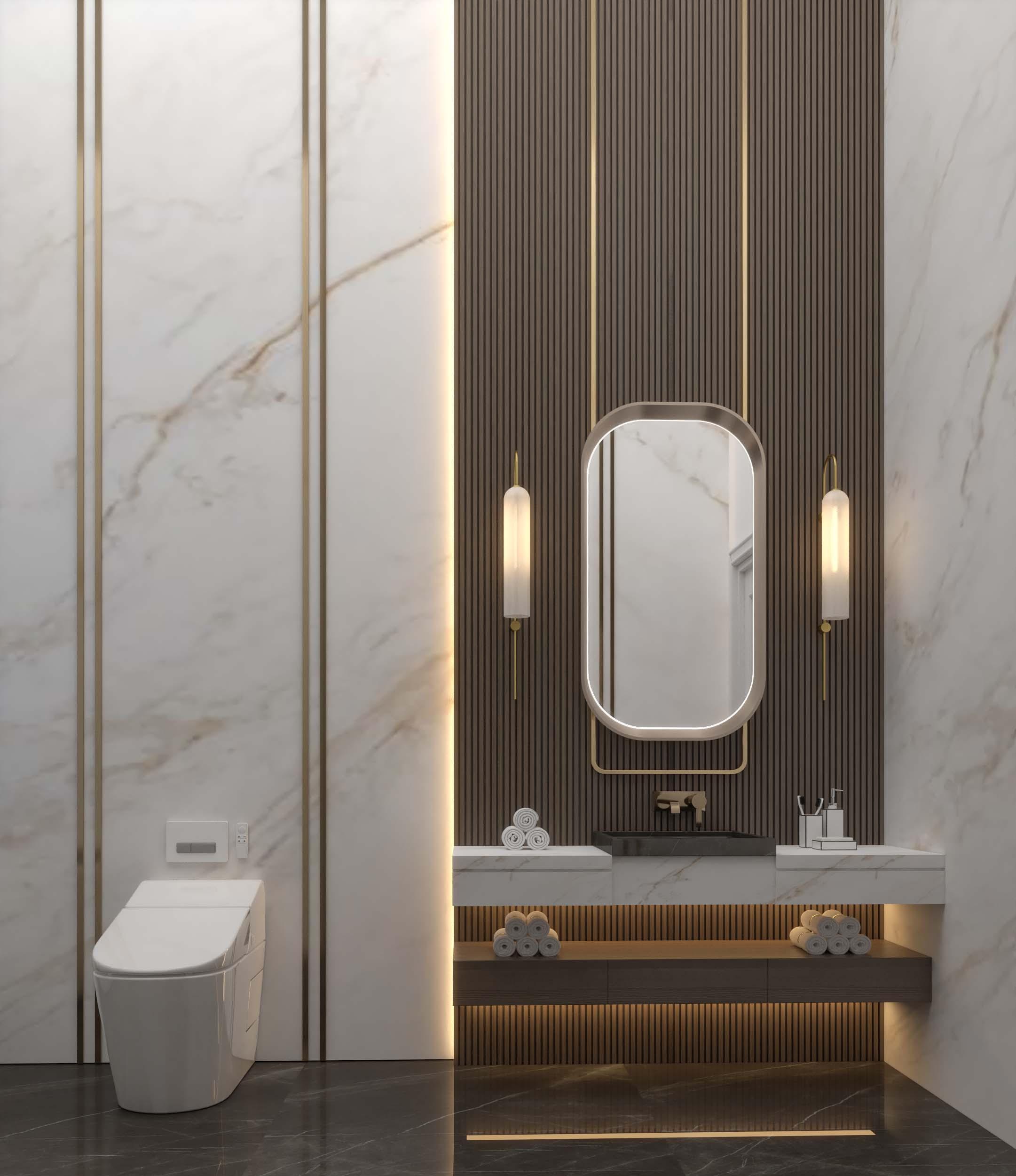 ELEGANT - BATHS - GOLDEN EDGES -WELL DESIGNED BATHROOMS