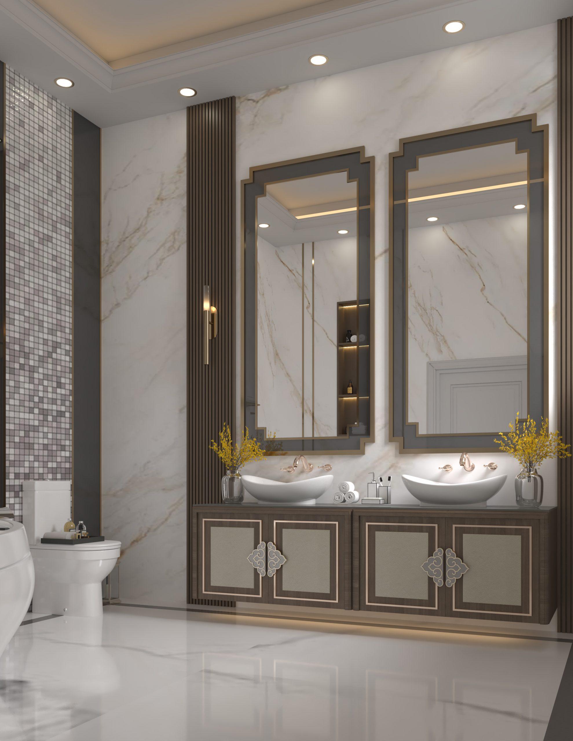 MASTER BATHROOM - BROWN