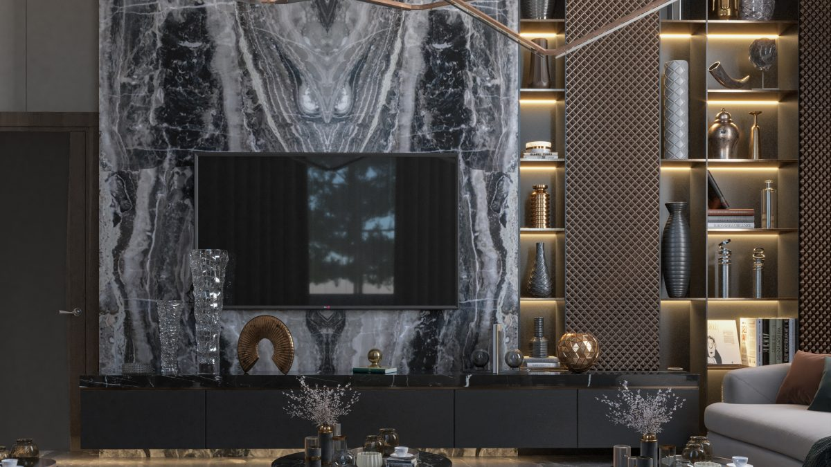 marble - tv set - ELEGANT WOMEN'S MAJLES-