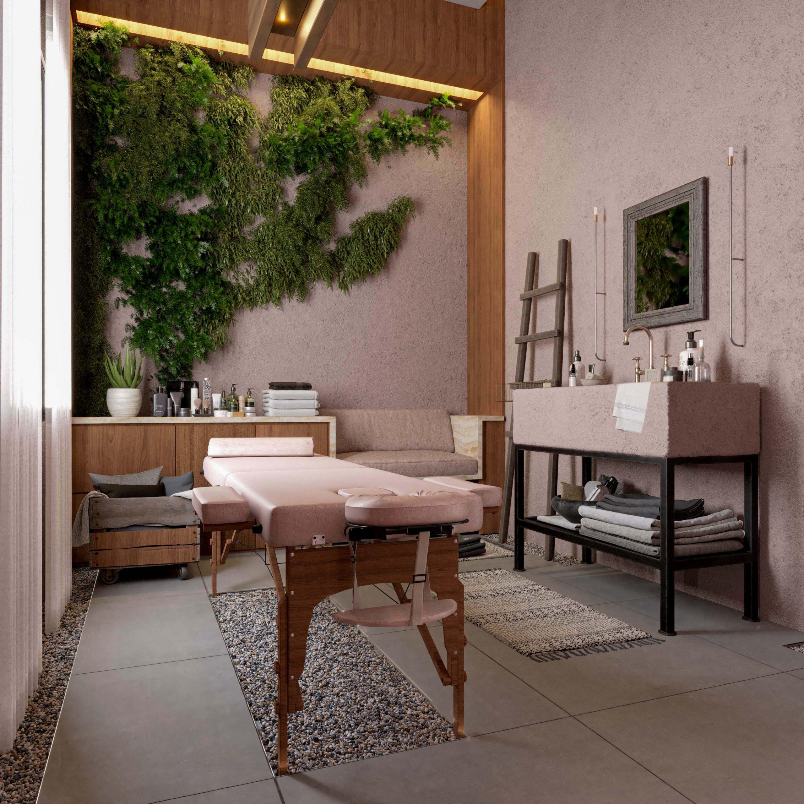 massage section - ocean spa design - spa