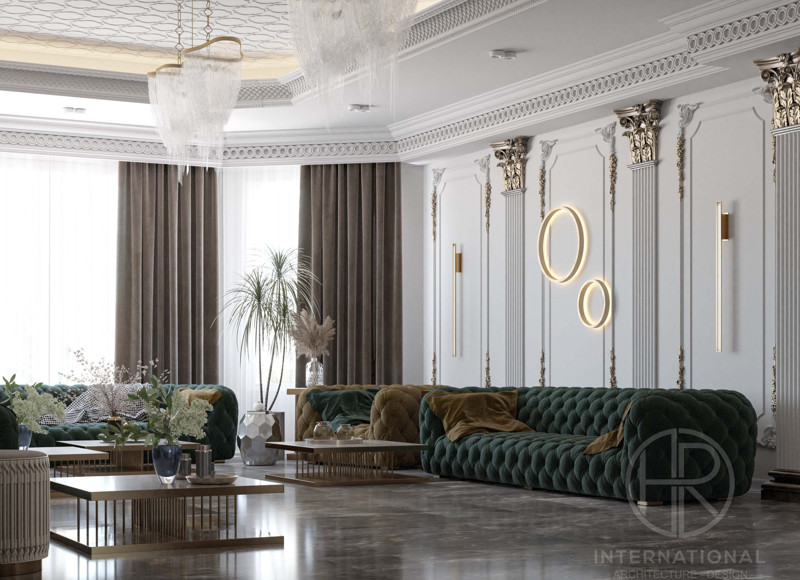 GREEN - FURNITURE - CURTAINS -DELUXE MEN'S MAJLES