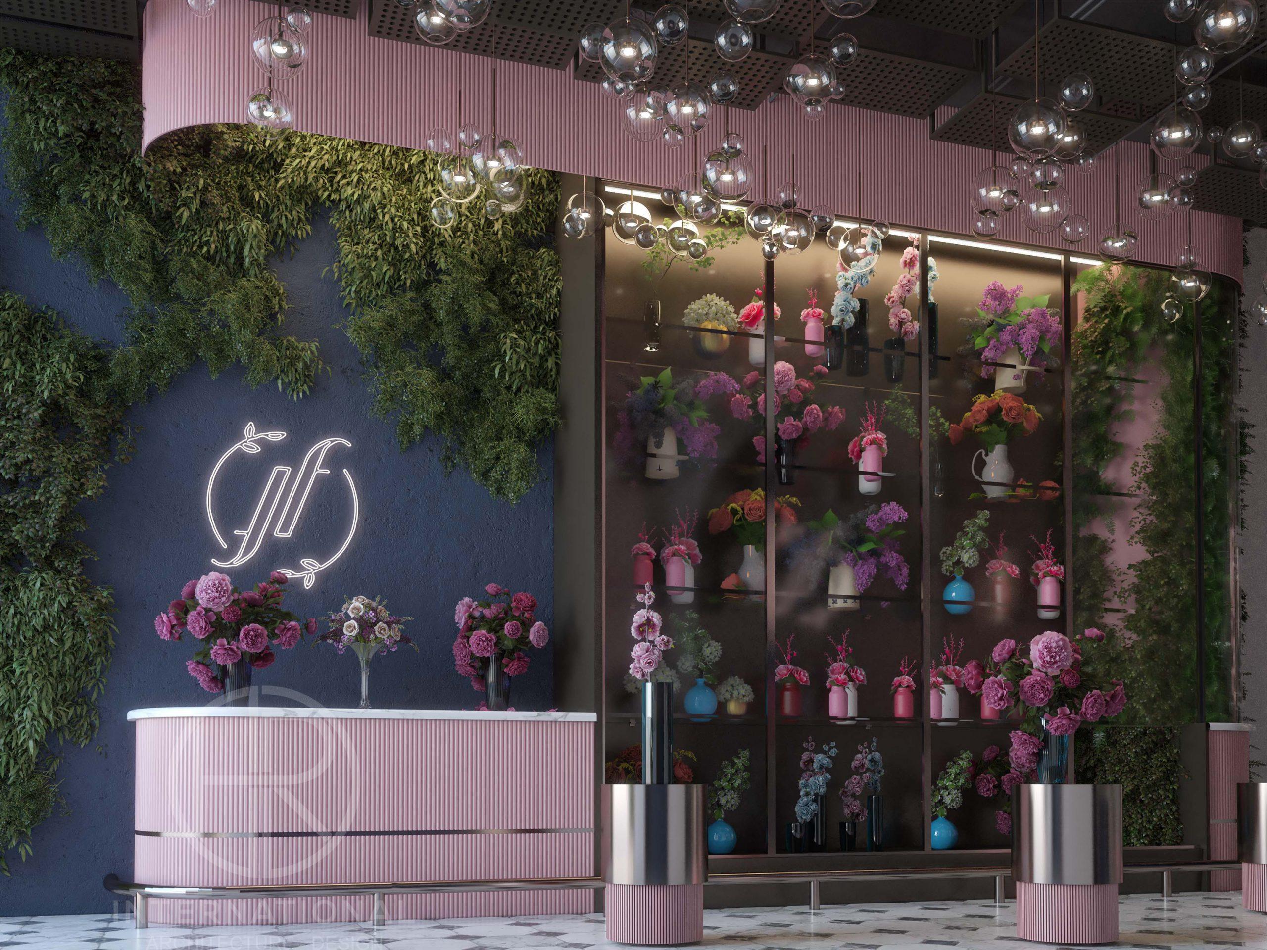 FLOWERS SHOP DESIGN - flowers - flower shop - plants - cake
