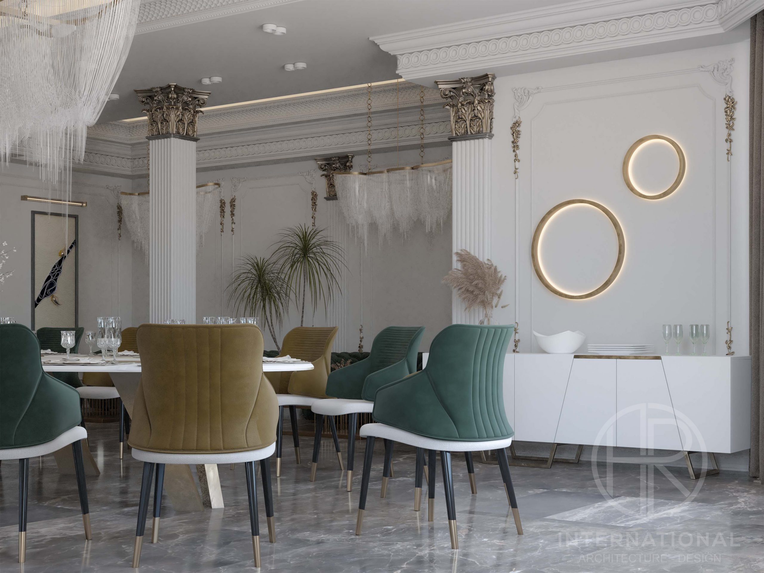 golden decoration - DELUX DINING ROOM - green - yellow