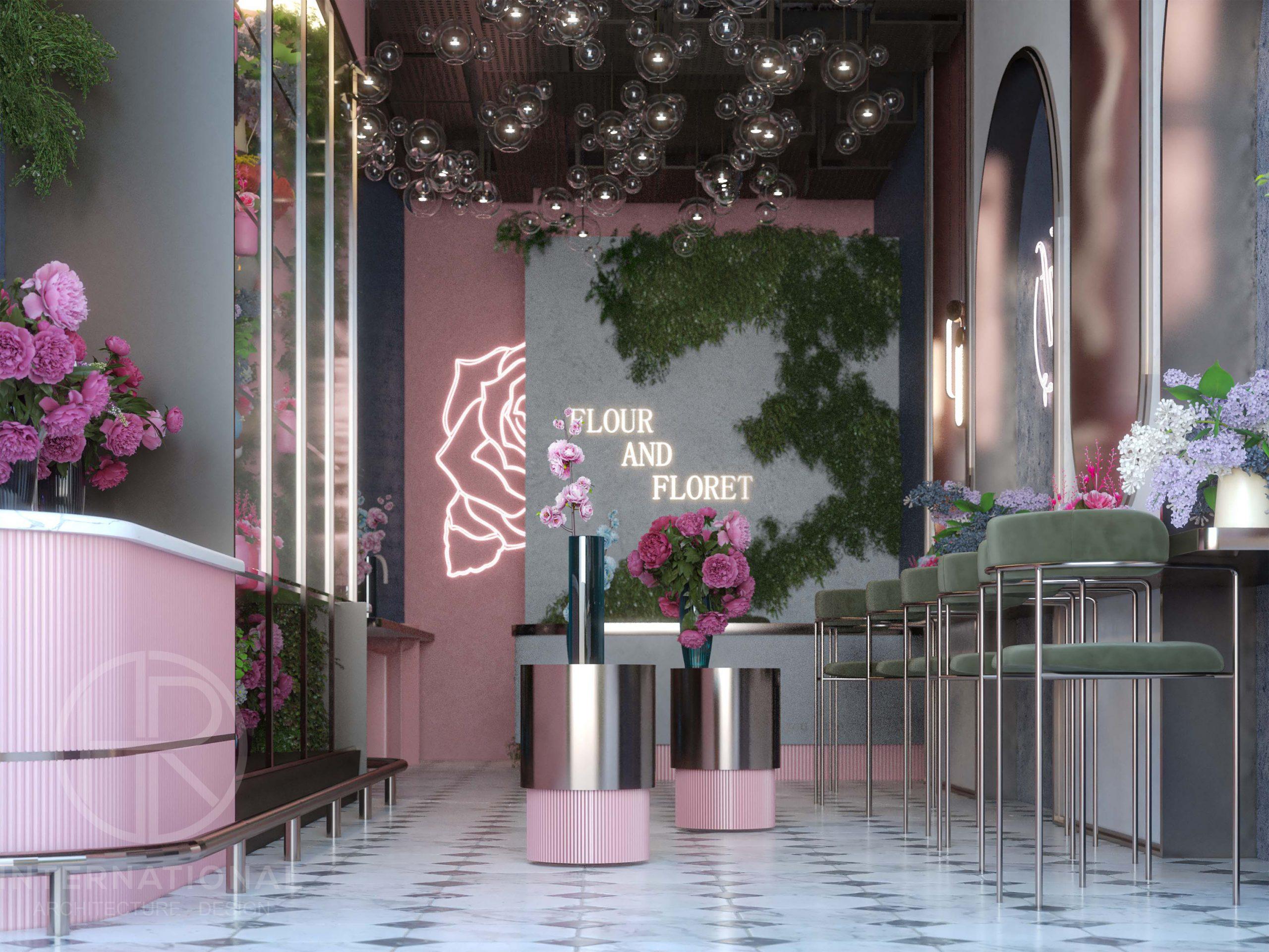 FLOWERS SHOP DESIGN - flower design - FLOWERS SHOP - pink
