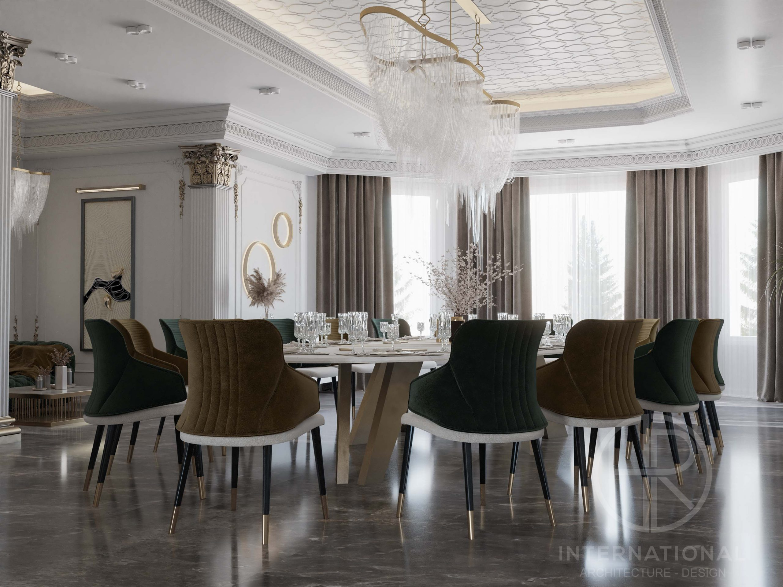DELUX DINING ROOM - NEO CLASSIC - DINING TABLE - LUXURY