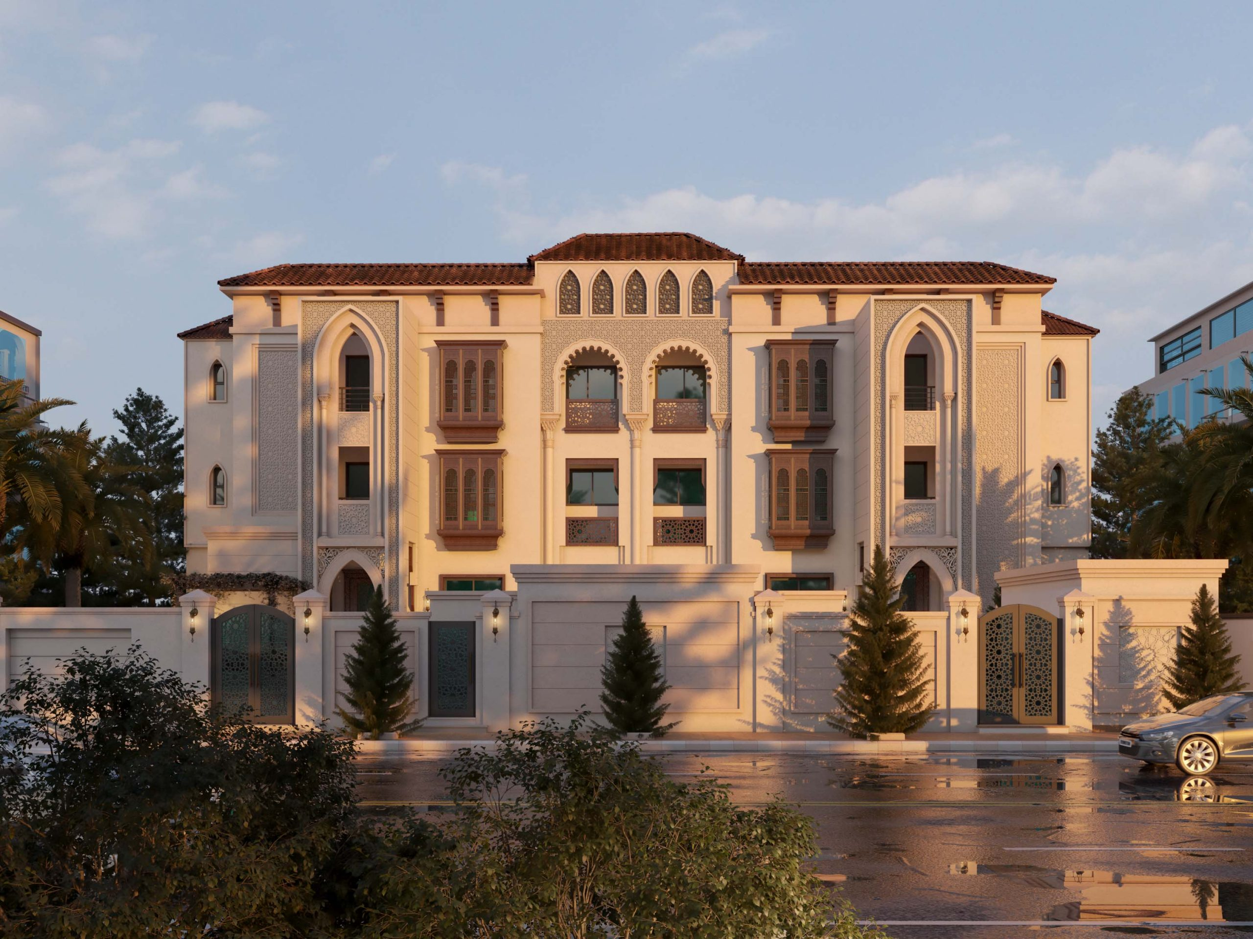 ANDALUSIAN EXTERIOR DESIGN - LUXURY - ROOFING TILES - SUN LIGHT - VRAY SUN
