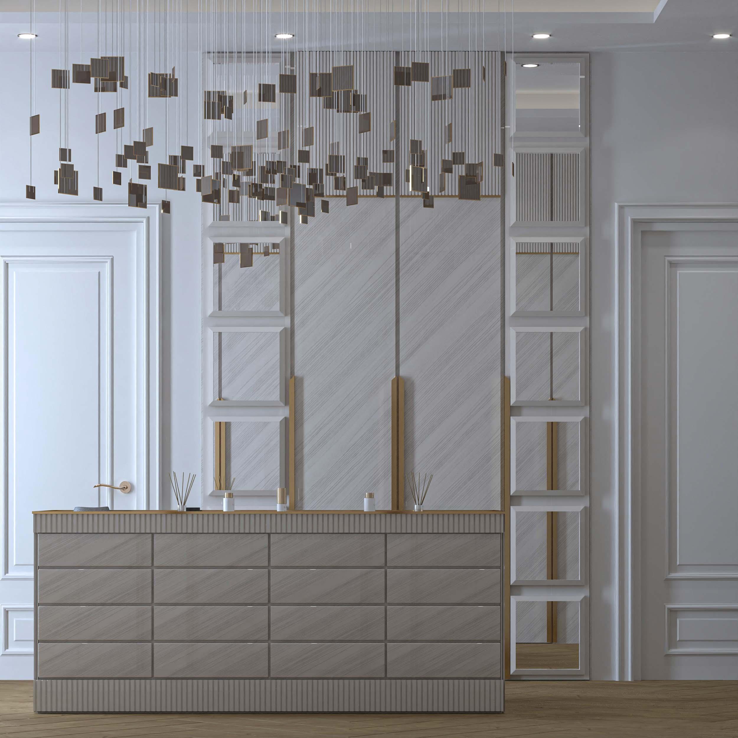 amazing design - white - mirror decoration