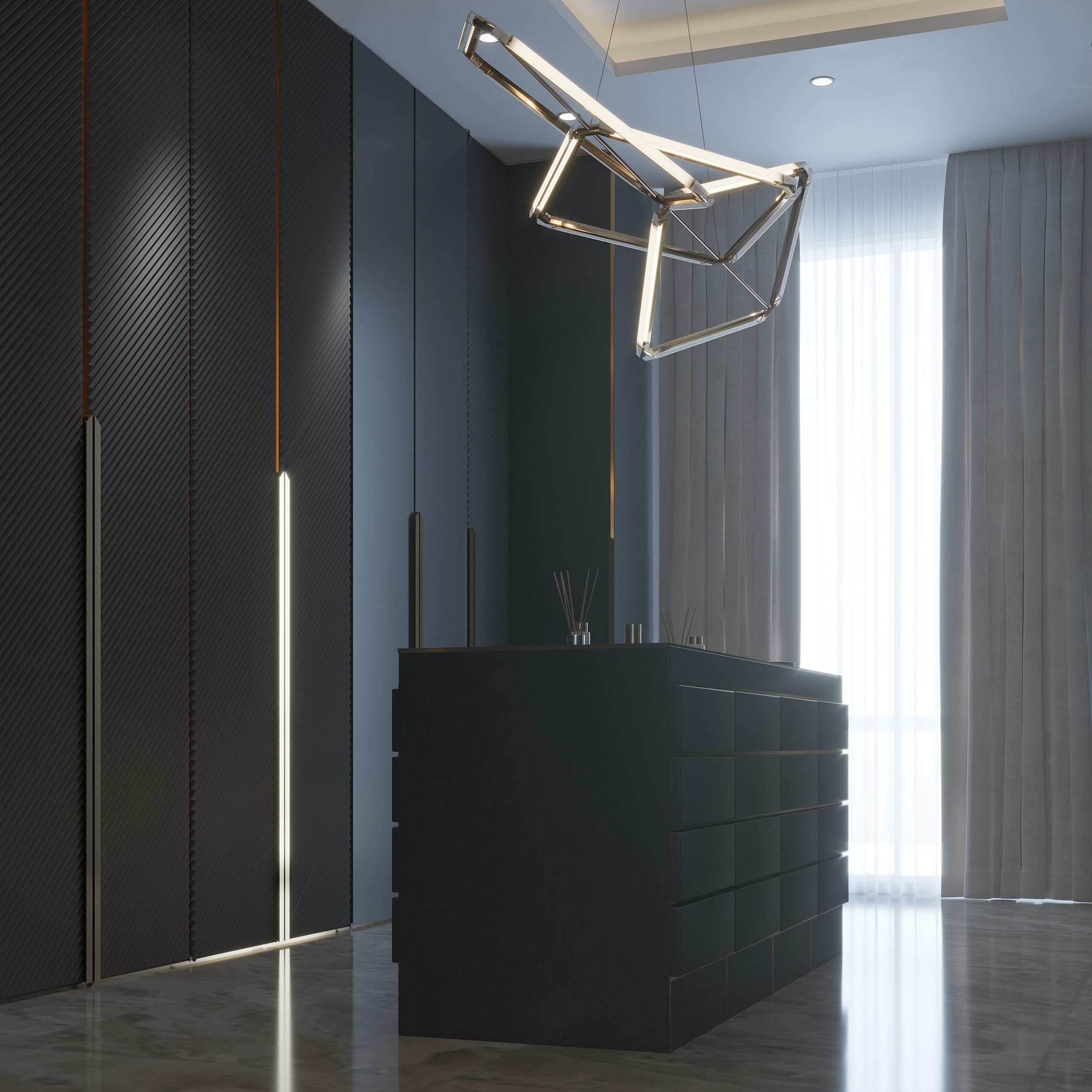 elegant - dressing room - black