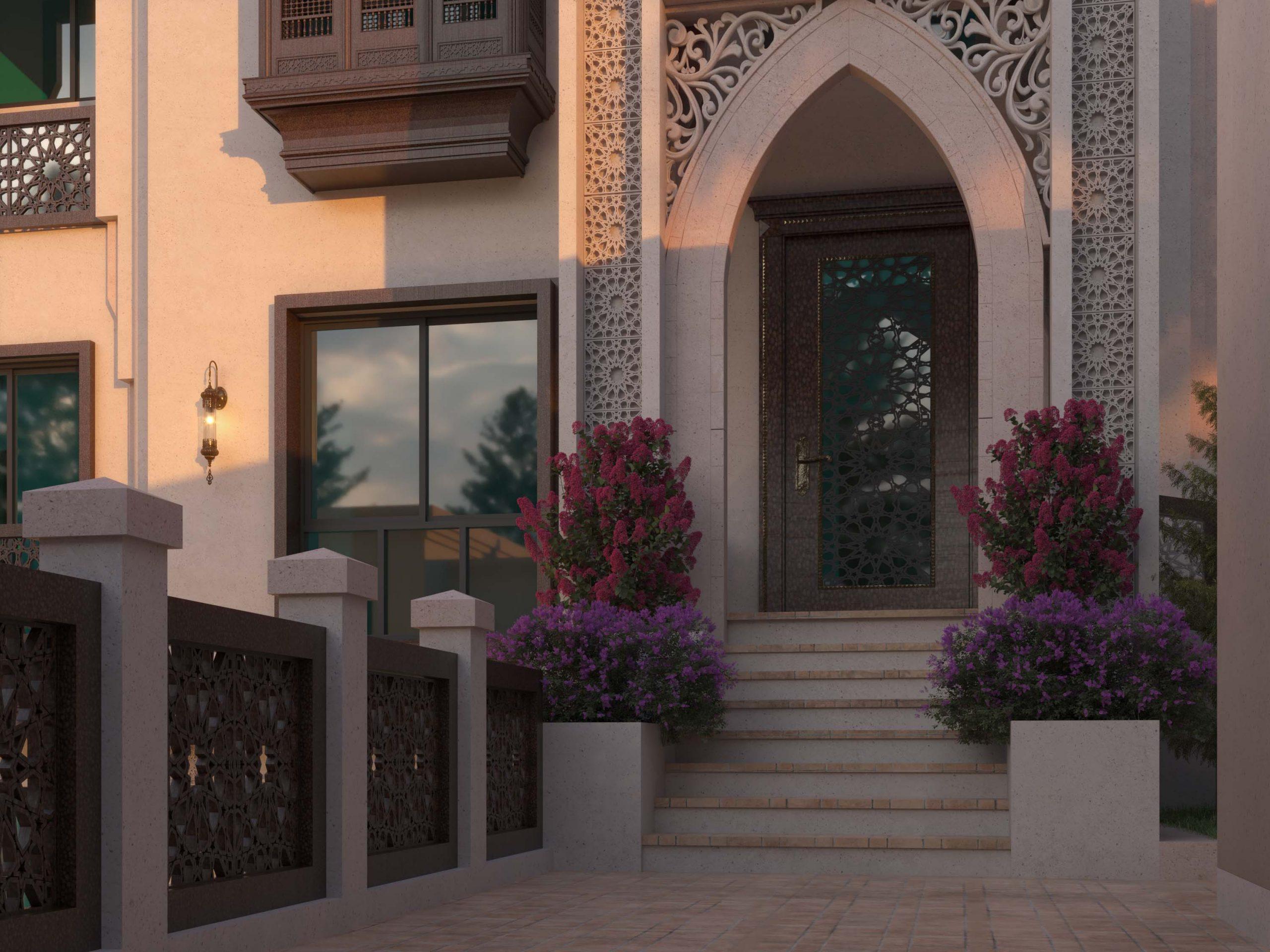 ANDALUSIAN EXTERIOR DESIGN - DOOR DESIGN - ISLAMIC - VILLA DESIGN