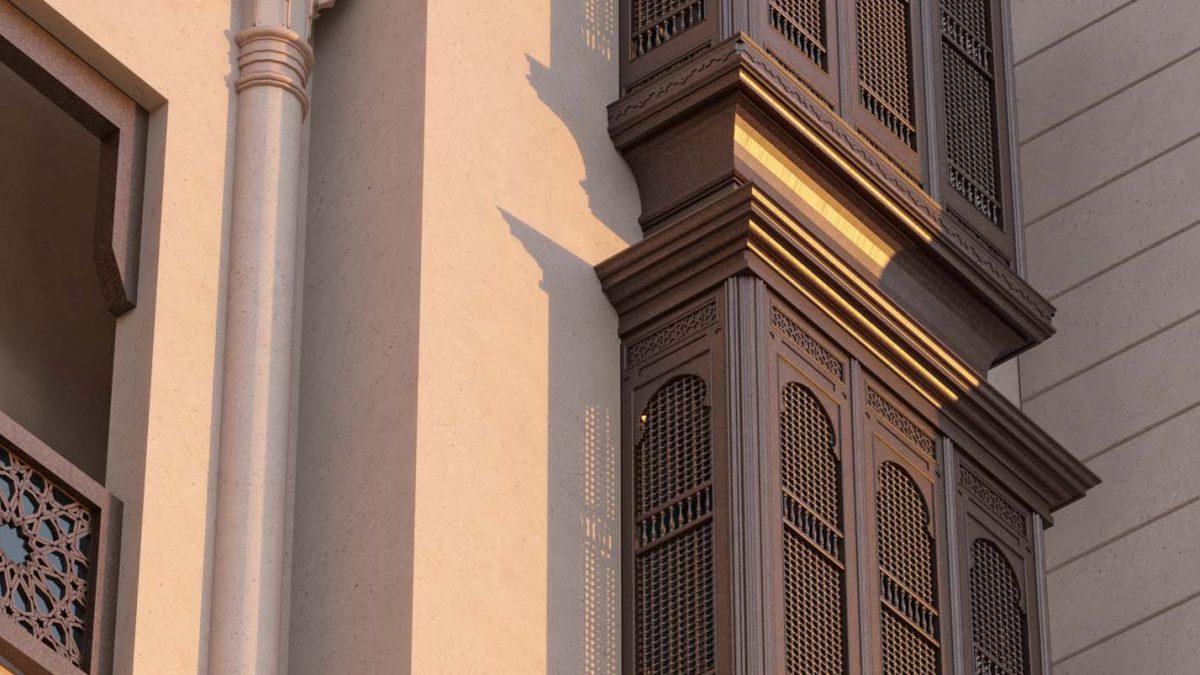 ANDALUSIAN EXTERIOR DESIGN - WINDOWS DESIGN - ISLAMIC WINDOW - CLASSIC ISLAMIC