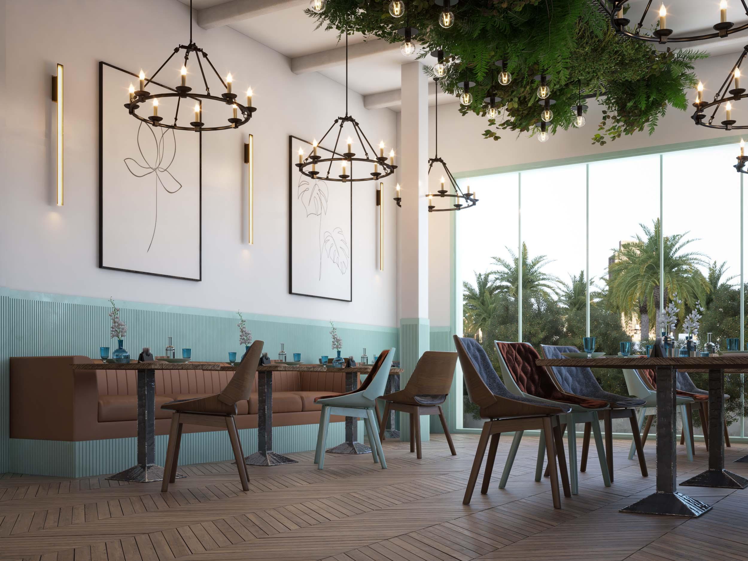 CAFE DESIGN BY HRarchZ  - GROUND FLOOR - CAFE - DESIGN