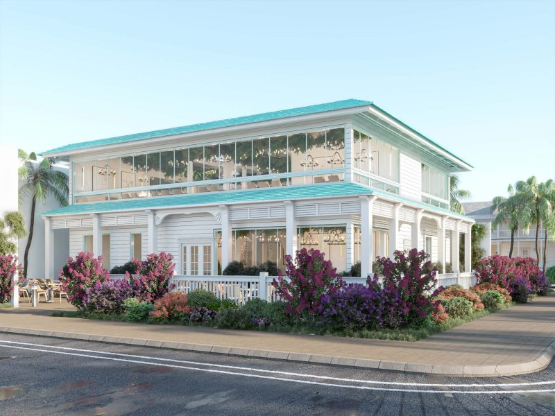 CAFE DESIGN BY HRarchZ - EXTERIOR DESIGN - TURQUOISE