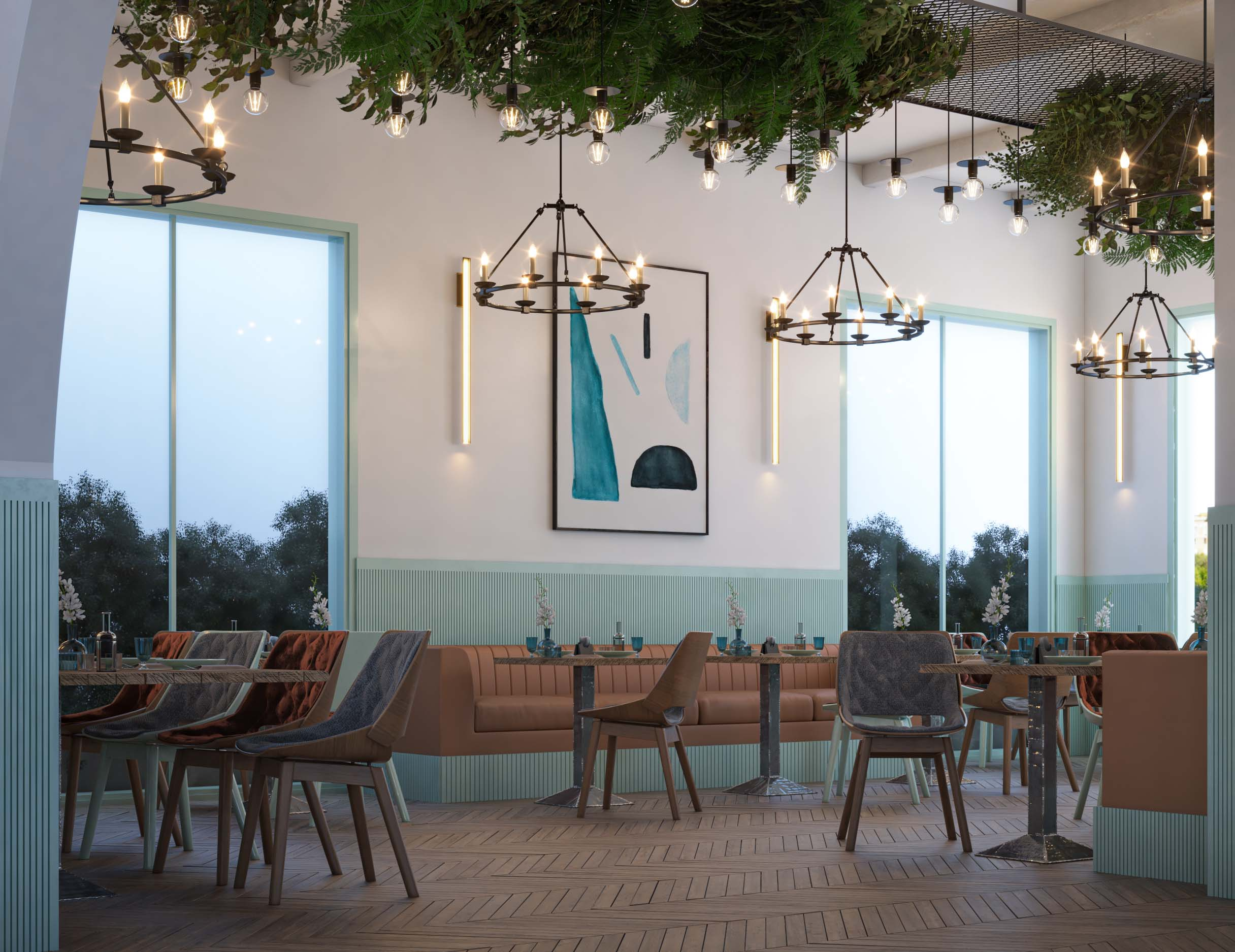 PAINTING - WALLS DECORATION - TURQUOISE