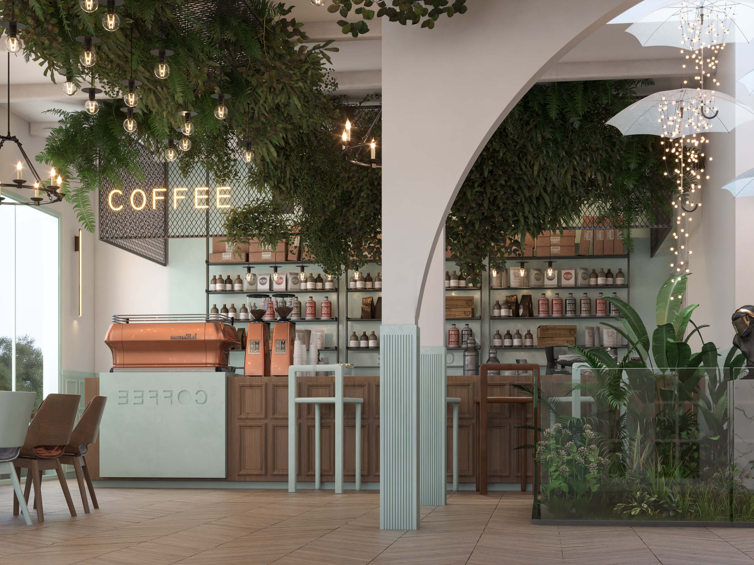 CAFE DESIGN BY HRarchZ - BAR DESIGN - COFFEE- AMERICAN STYLE
