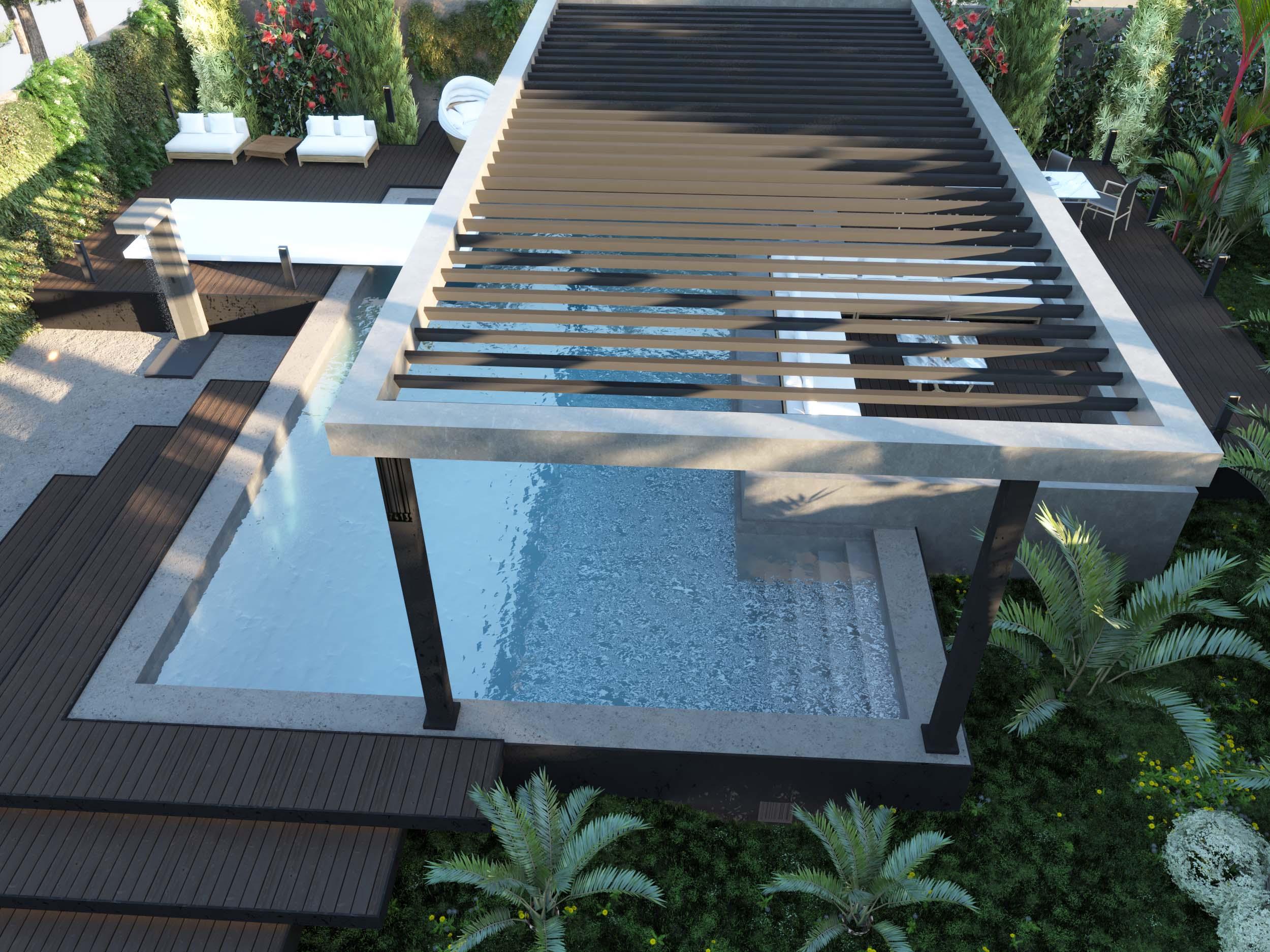 sun - shading - ambarella - trees - garden