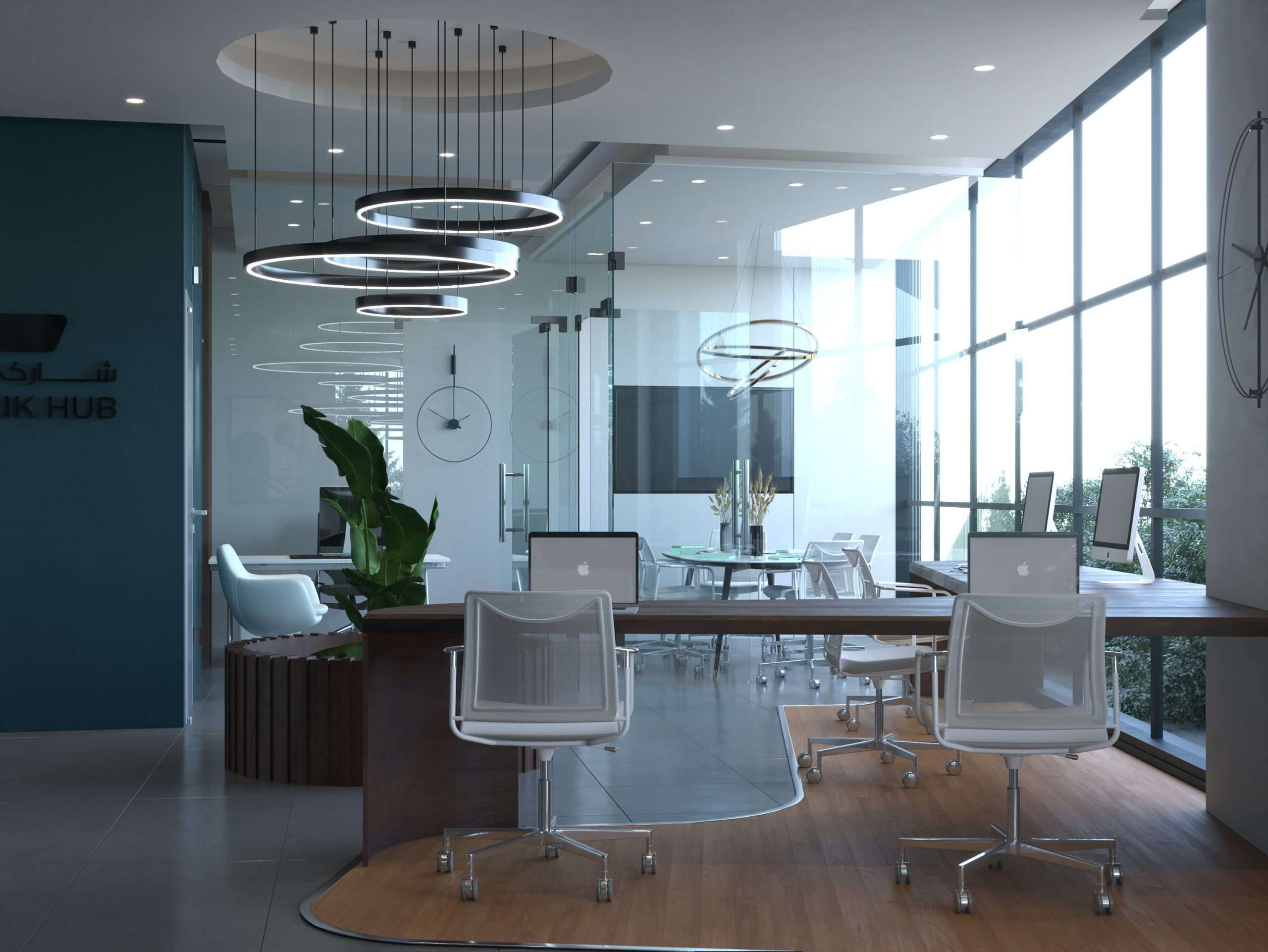 MEETING ROOM - WINDOW -  CHAIRS - TABLES