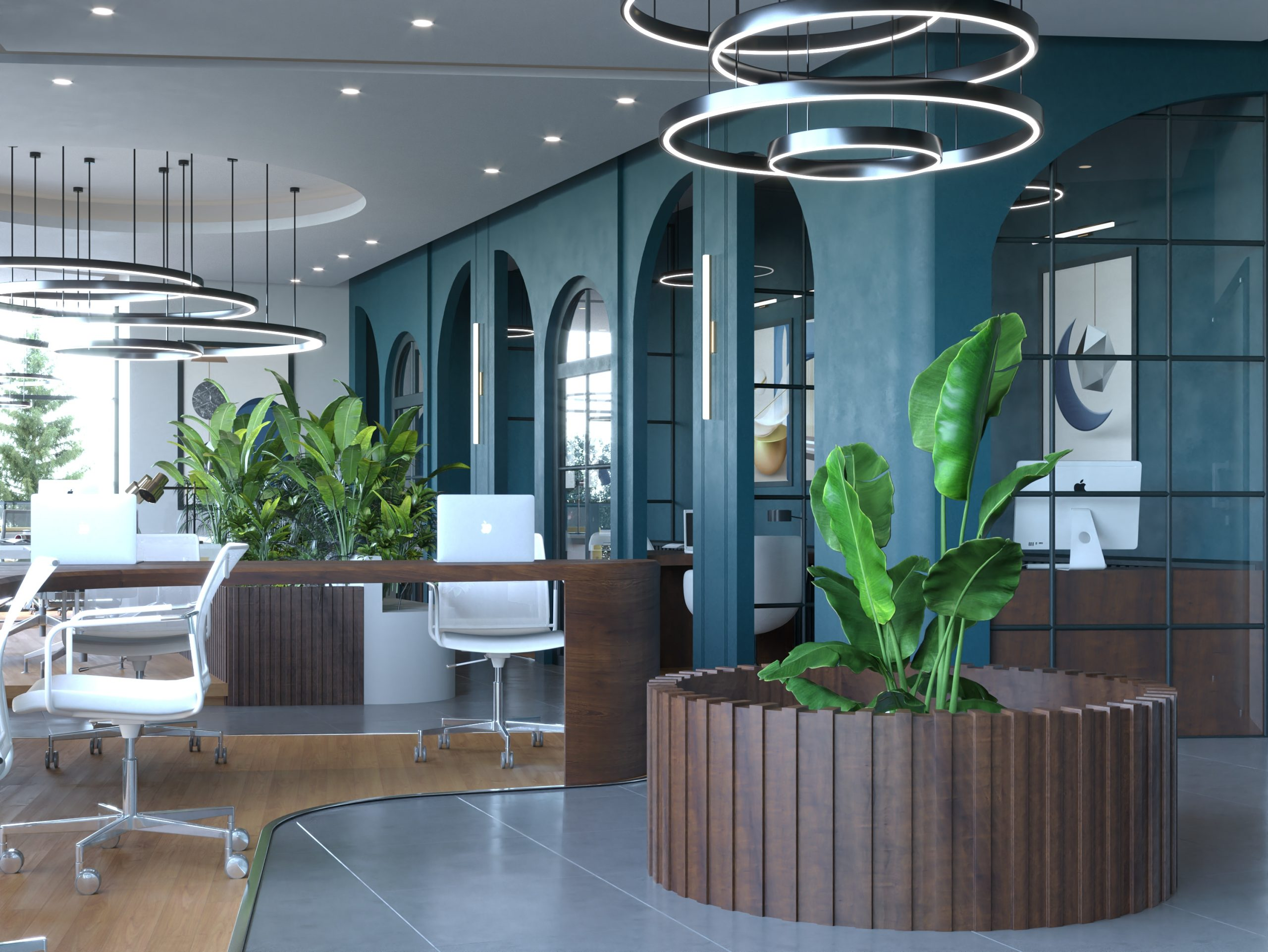 SHARIK HUB COMPANY DESIGN - PLANTS DECORATION - BIG TABLES - LIGHT WORK - MIXED DESIGN